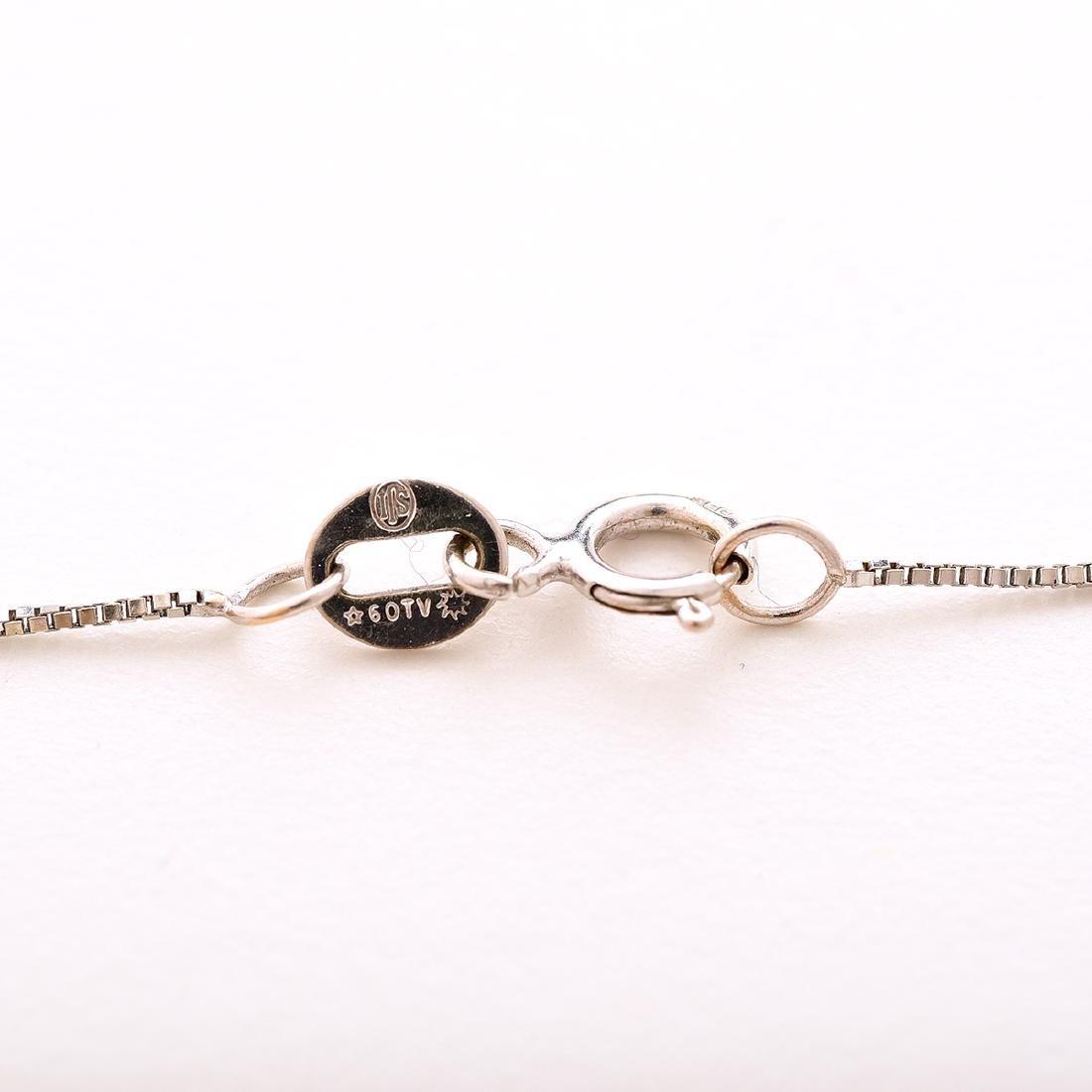 Diamond, 14k White Gold Pendant Necklace. - 5