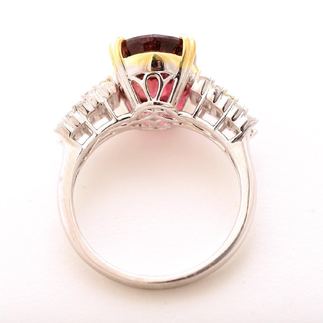 Tourmaline, Diamond, 14k Gold Ring. - 3