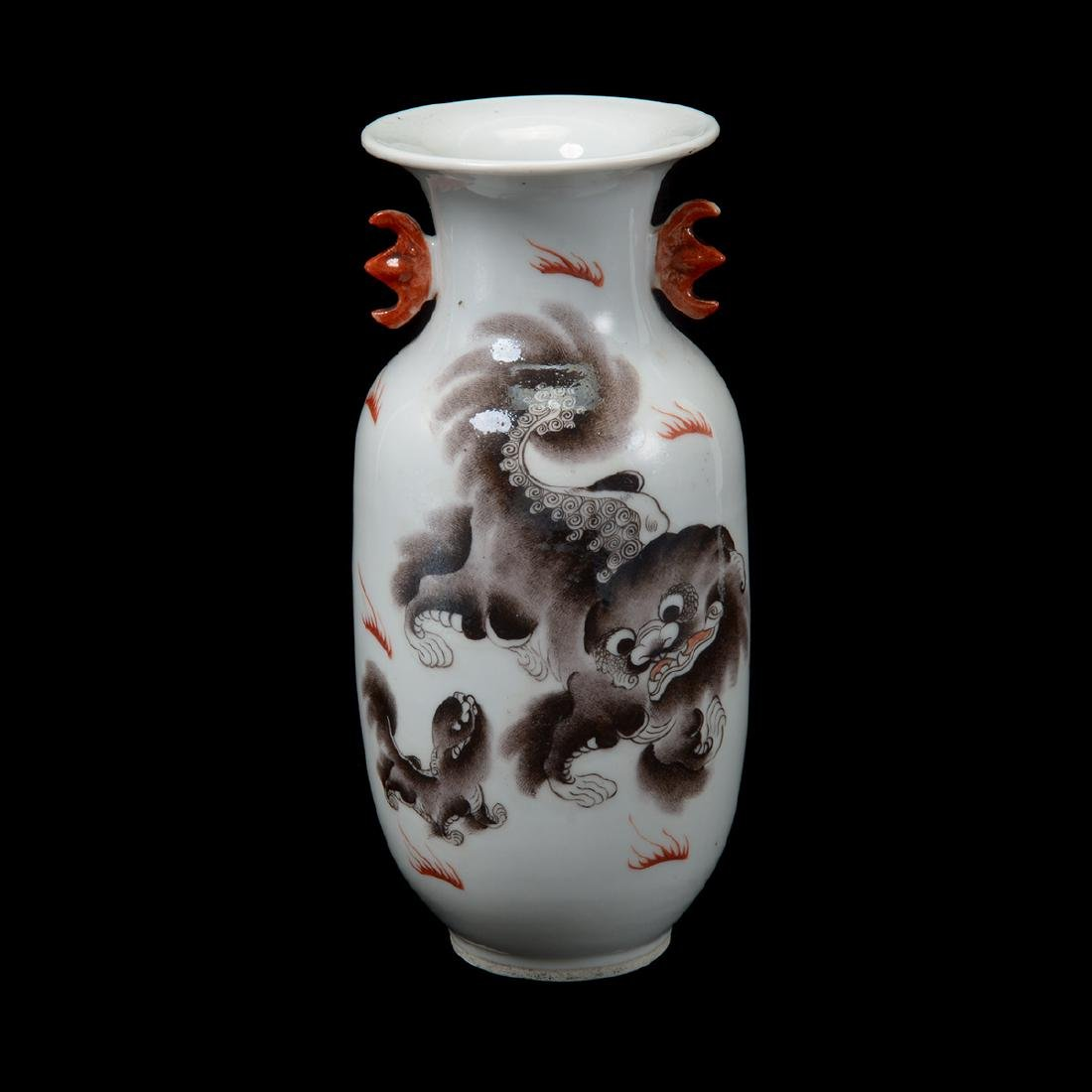 Grisaille Painted Vase, Early 20th Century