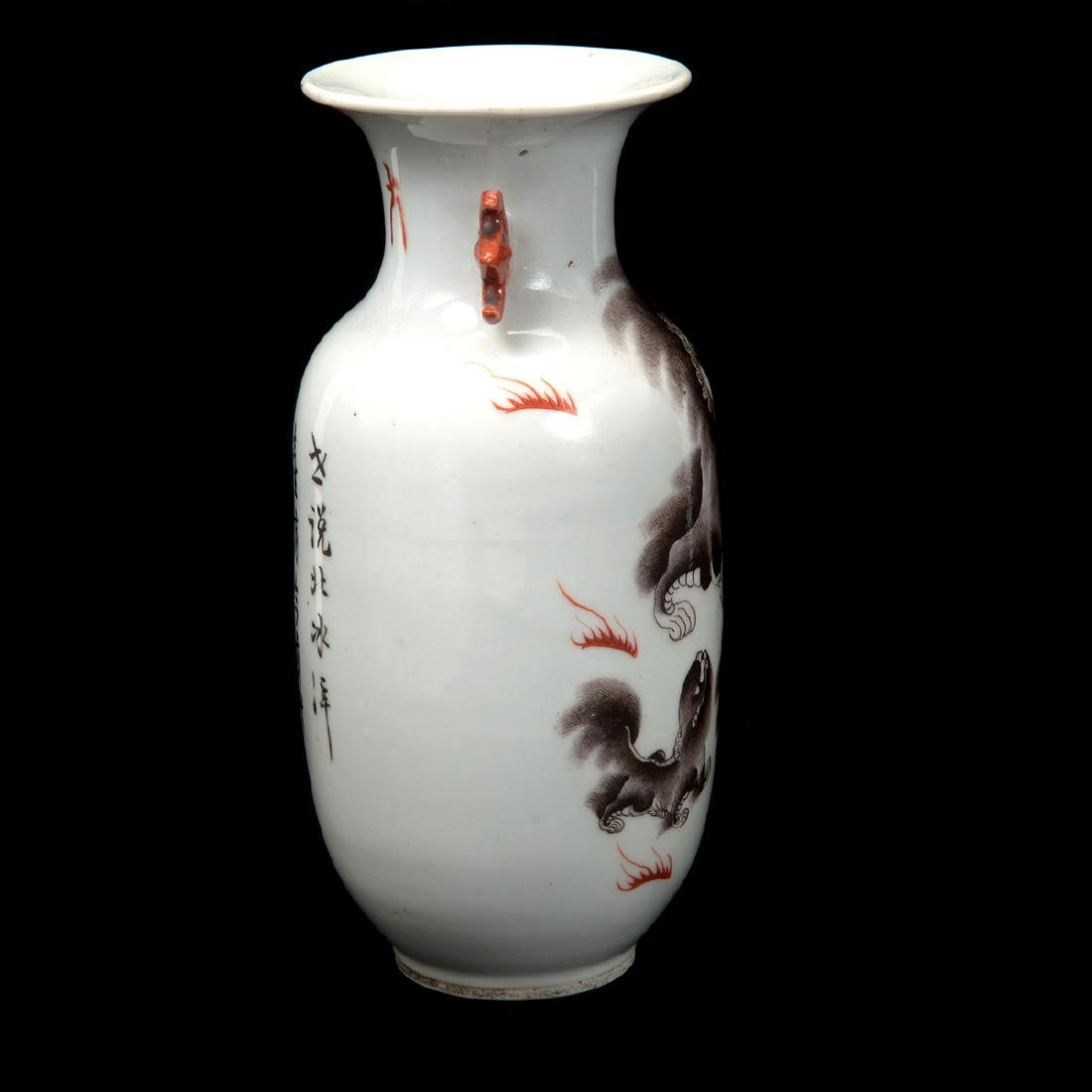 Grisaille Painted Vase, Early 20th Century - 7