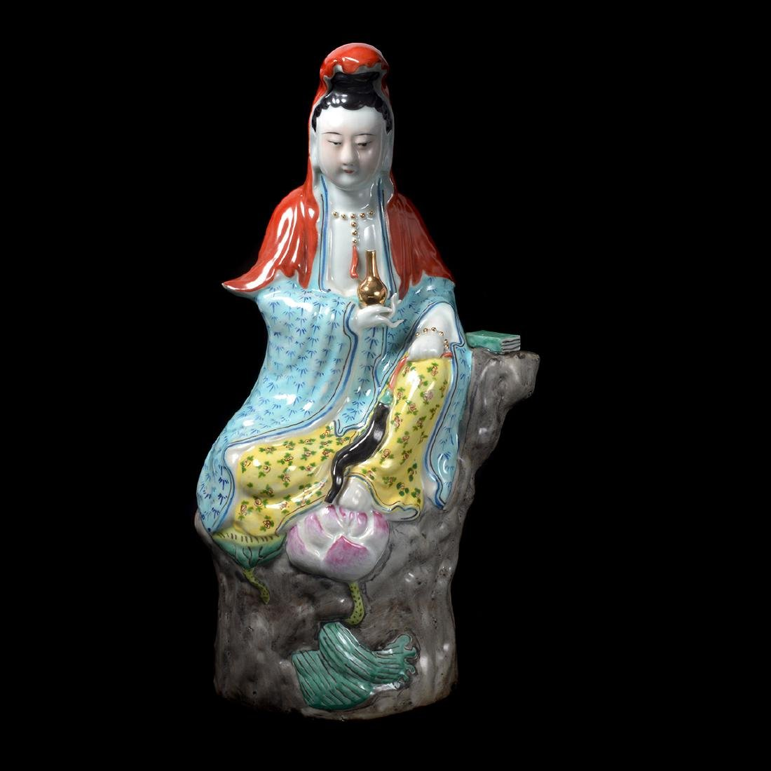 Two Guanyin Porcelain Figures, Republic - 5