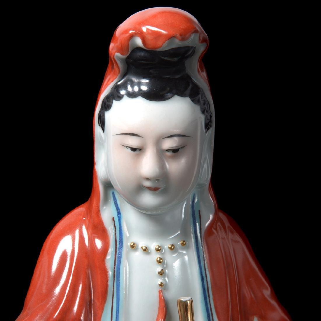 Two Guanyin Porcelain Figures, Republic - 7
