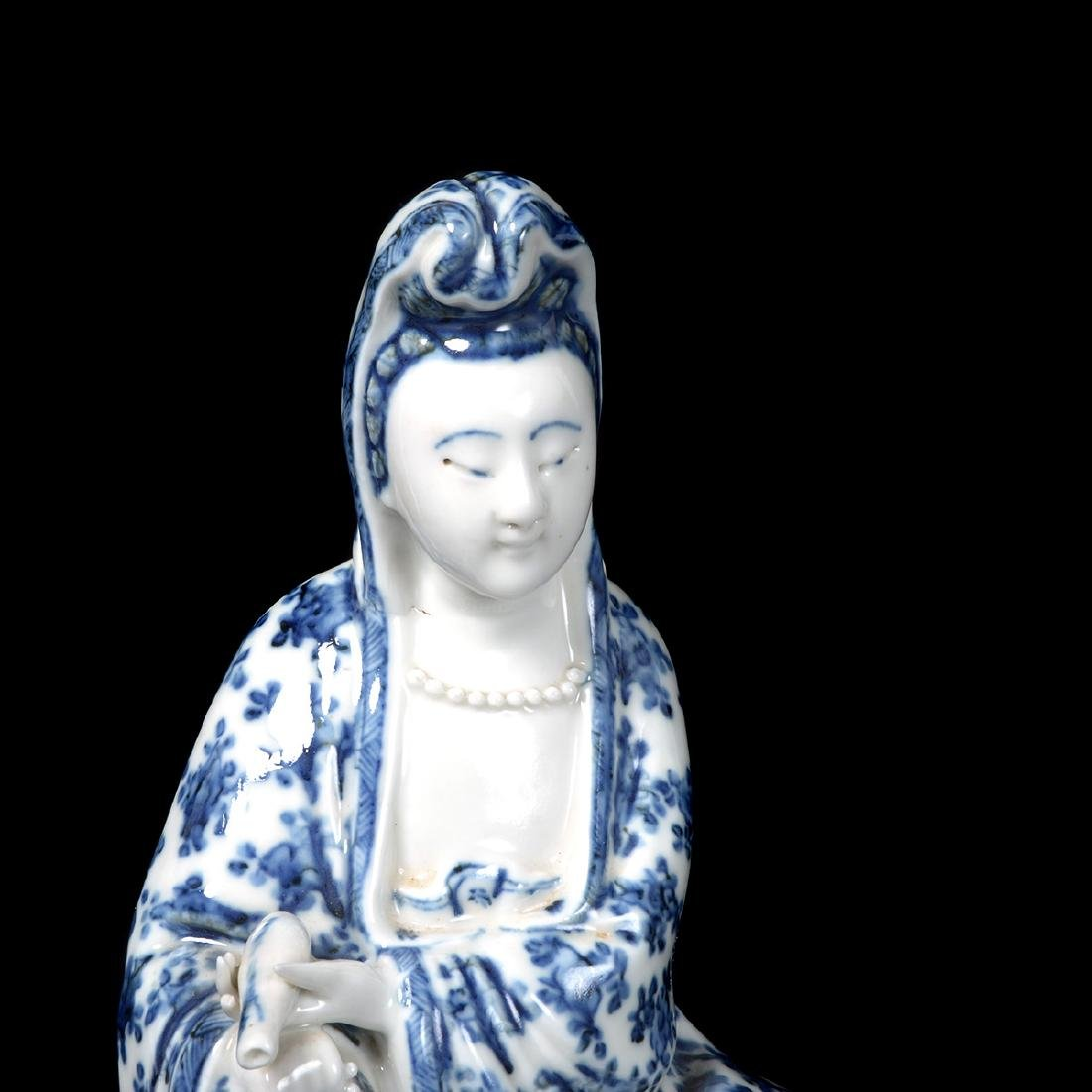 Two Guanyin Porcelain Figures, Republic - 8
