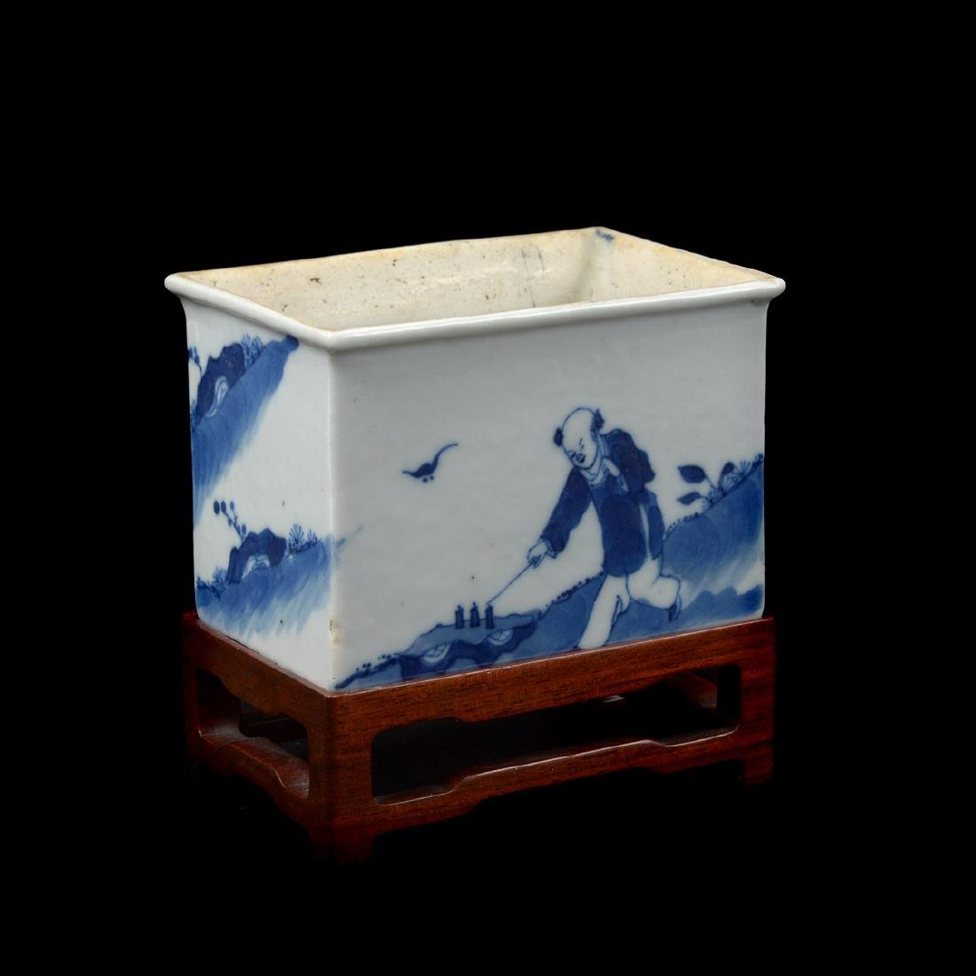 Five Porcelain Scholar's Objects, Late Qing Dynasty - 6