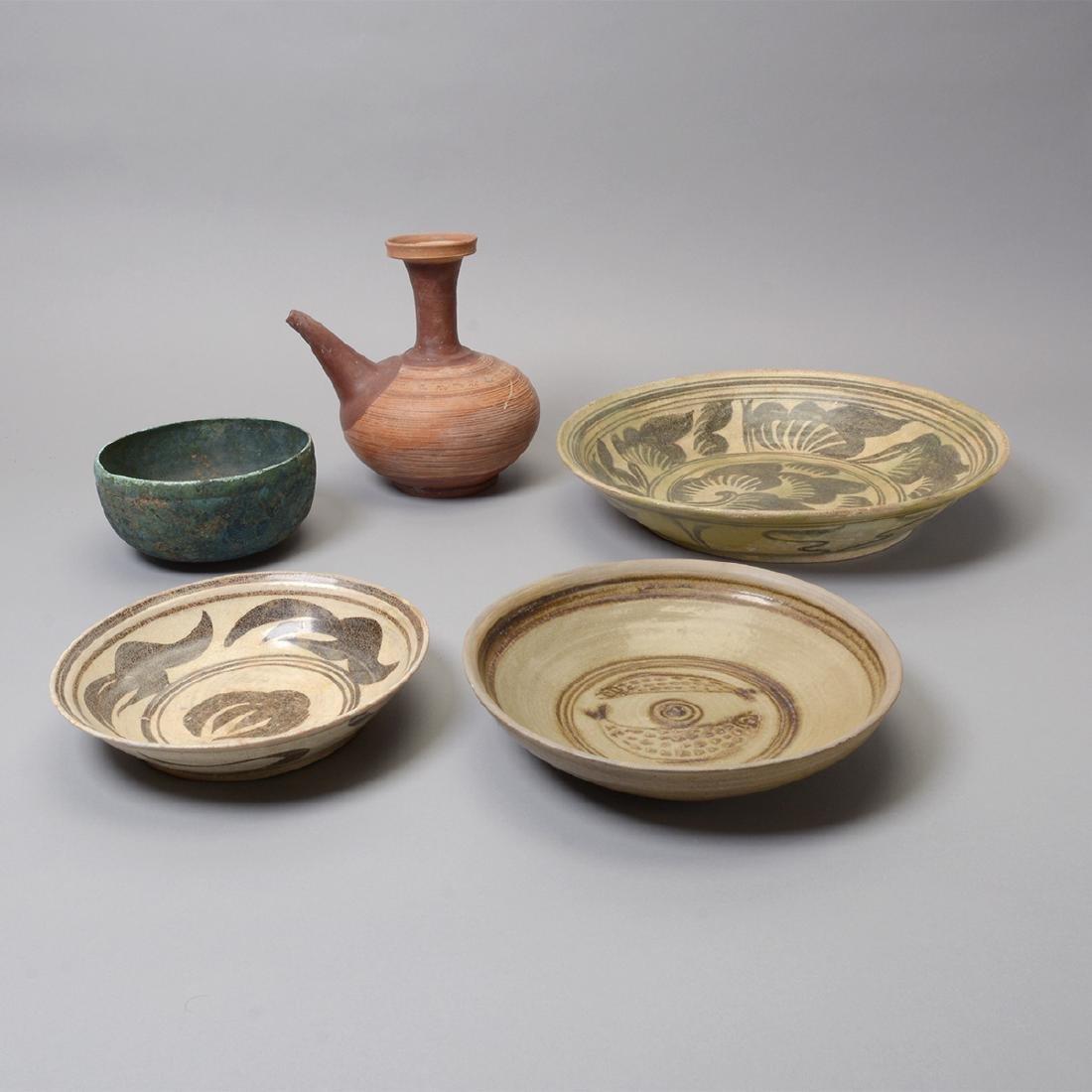 Large Group of Thai Glazed Ceramics, 7th - 16th C