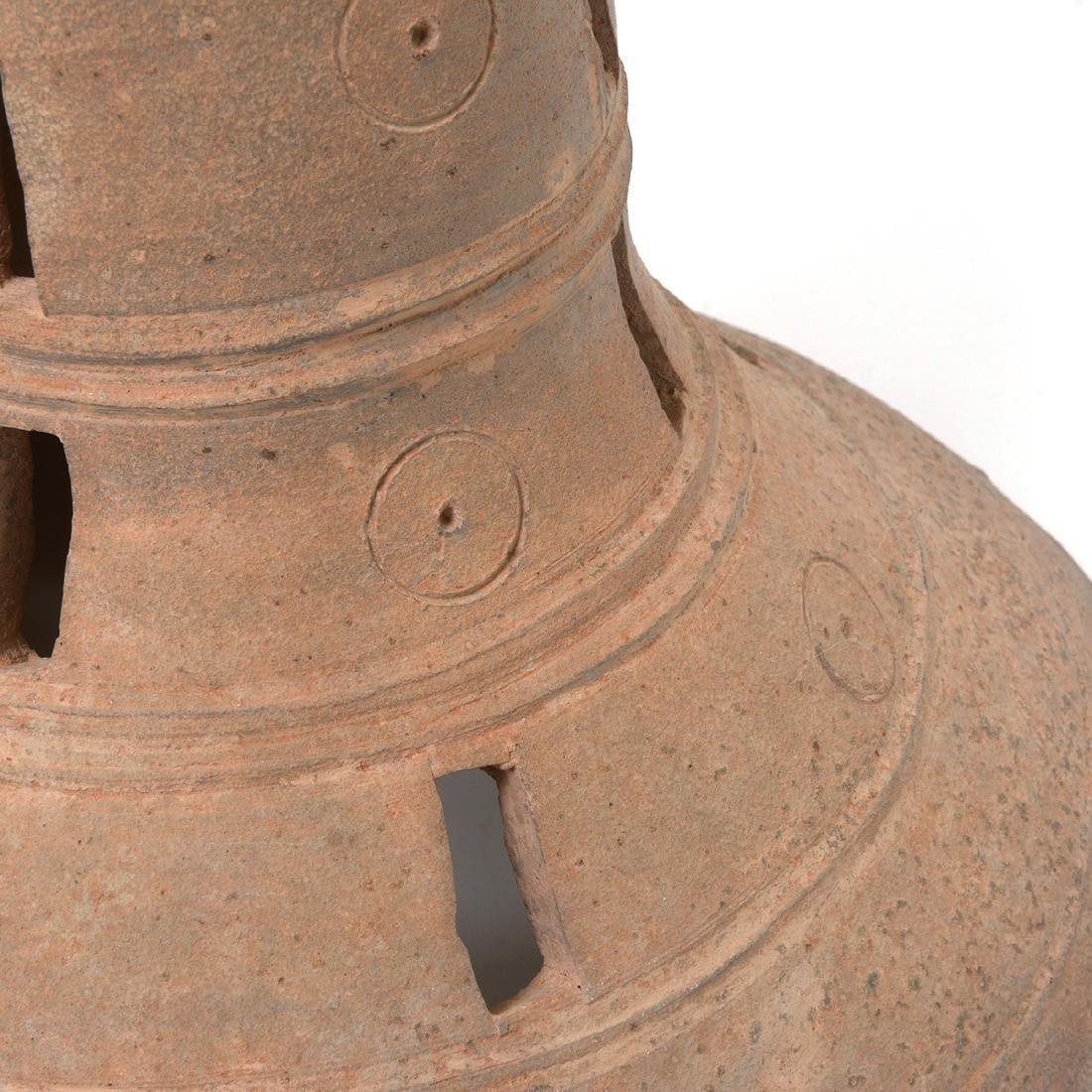 Two Korean Ceramic Stands, Silia Dynasty - 5