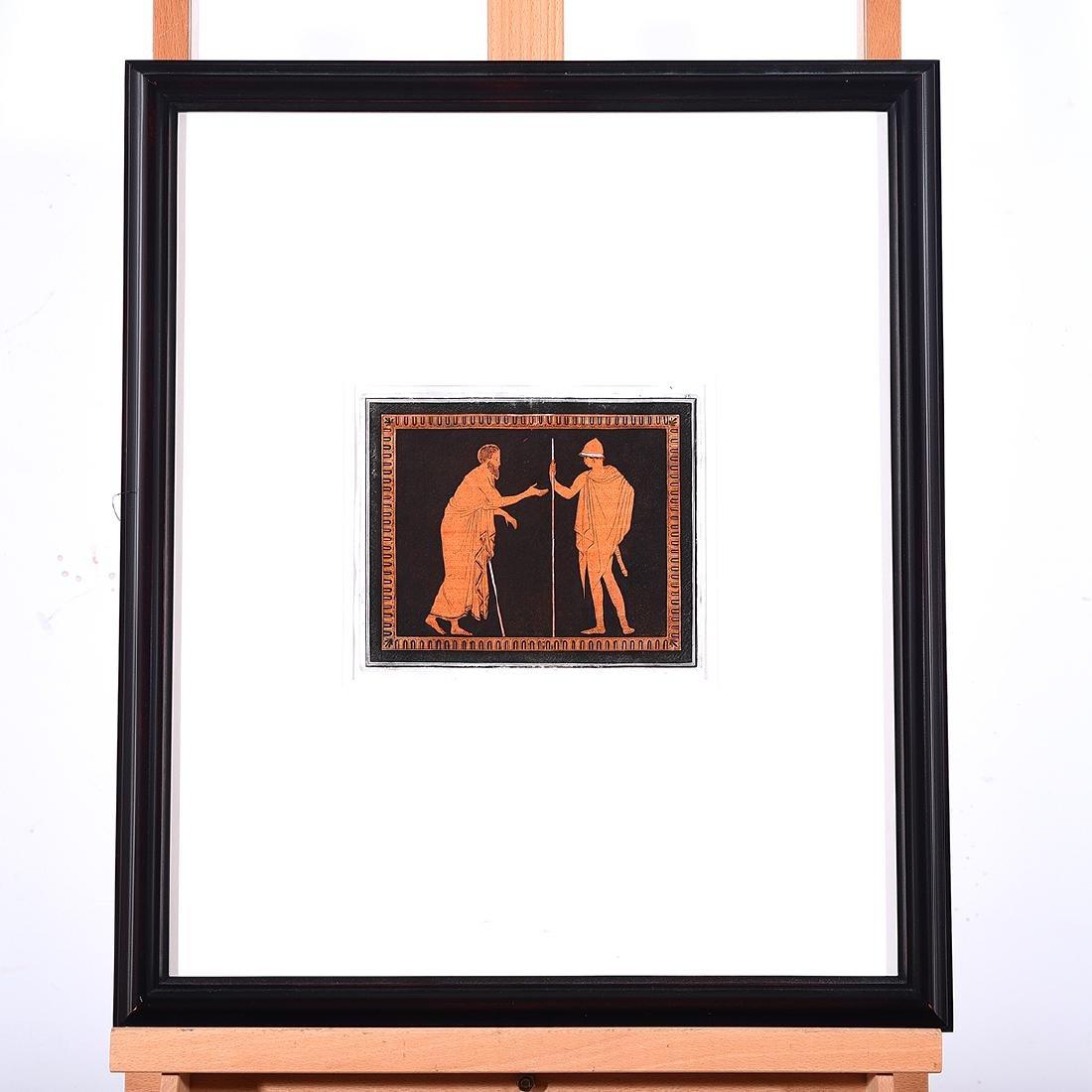 "Hamilton Print, ""Bearded Man in Conversation"" black and - 4"