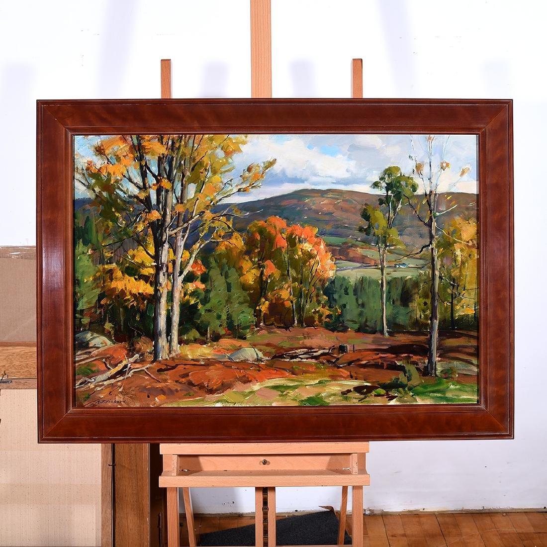 """Aldro Hibbard """"Fall Landscape"""" oil on canvas - 4"""
