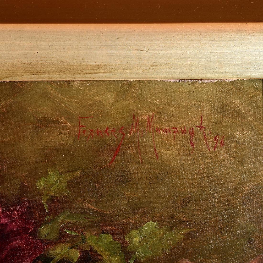"""Frances Mumaugh """"Still Life With Roses"""" oil on canvas - 2"""