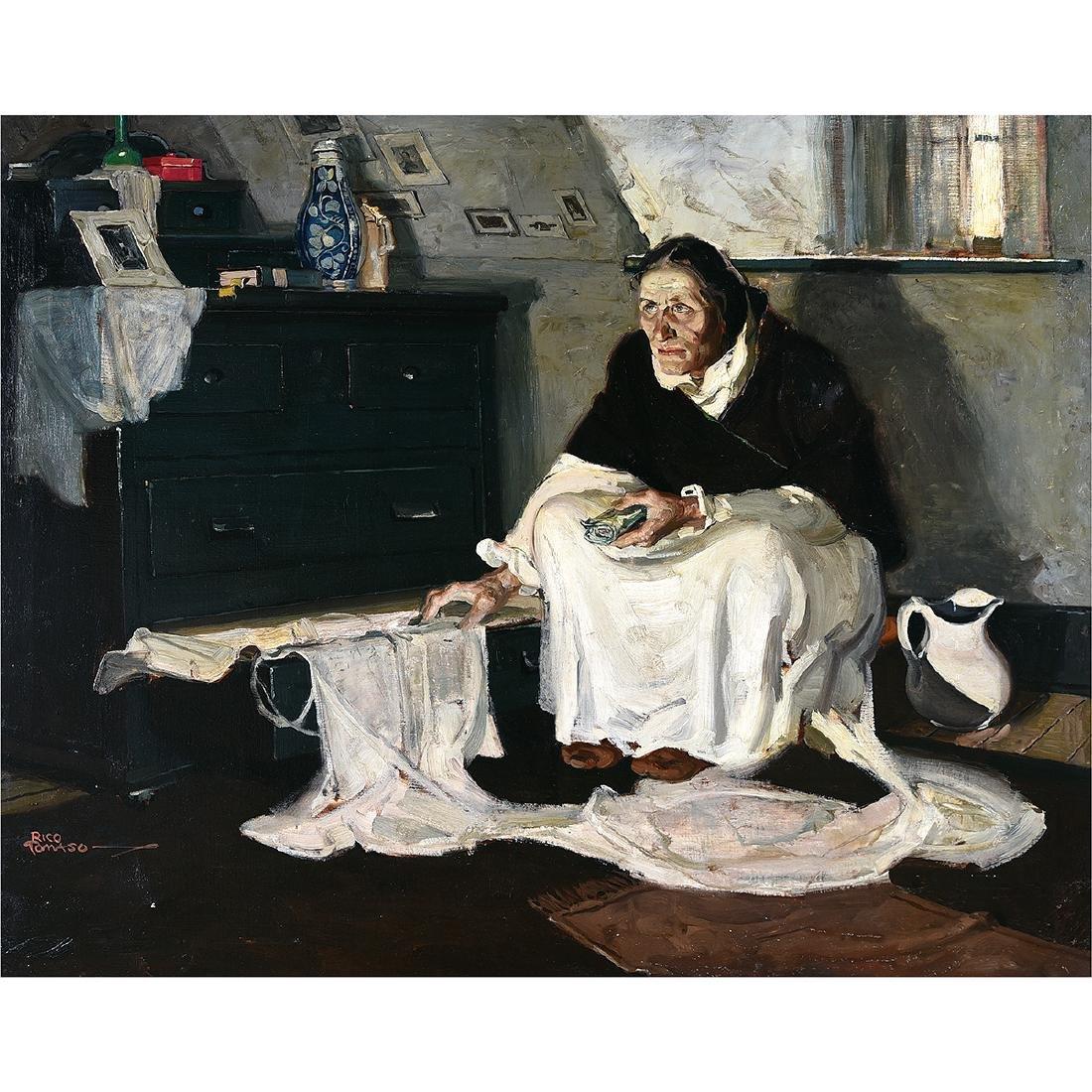 "Rico Tomaso ""Haunted"" oil on canvas"
