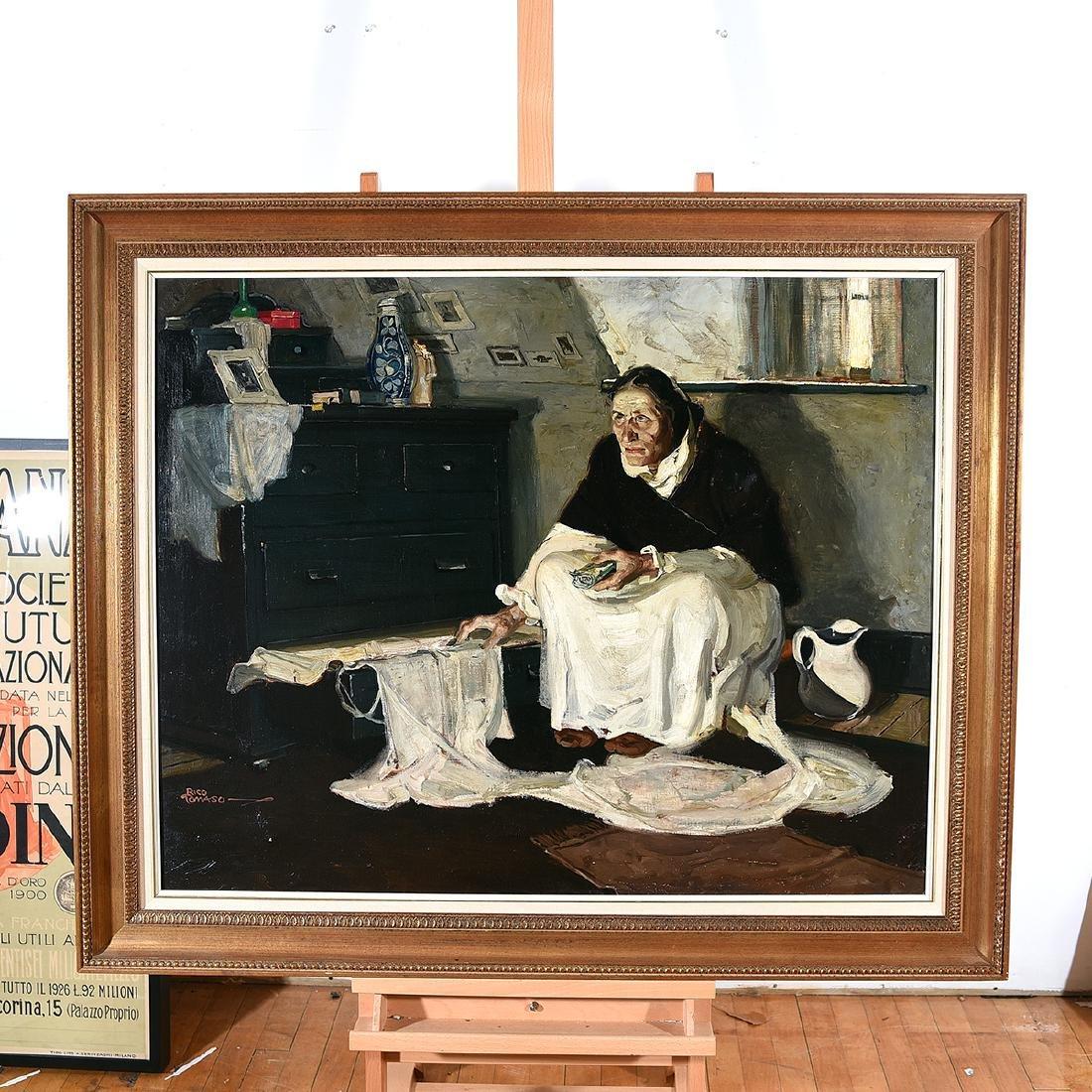 "Rico Tomaso ""Haunted"" oil on canvas - 4"