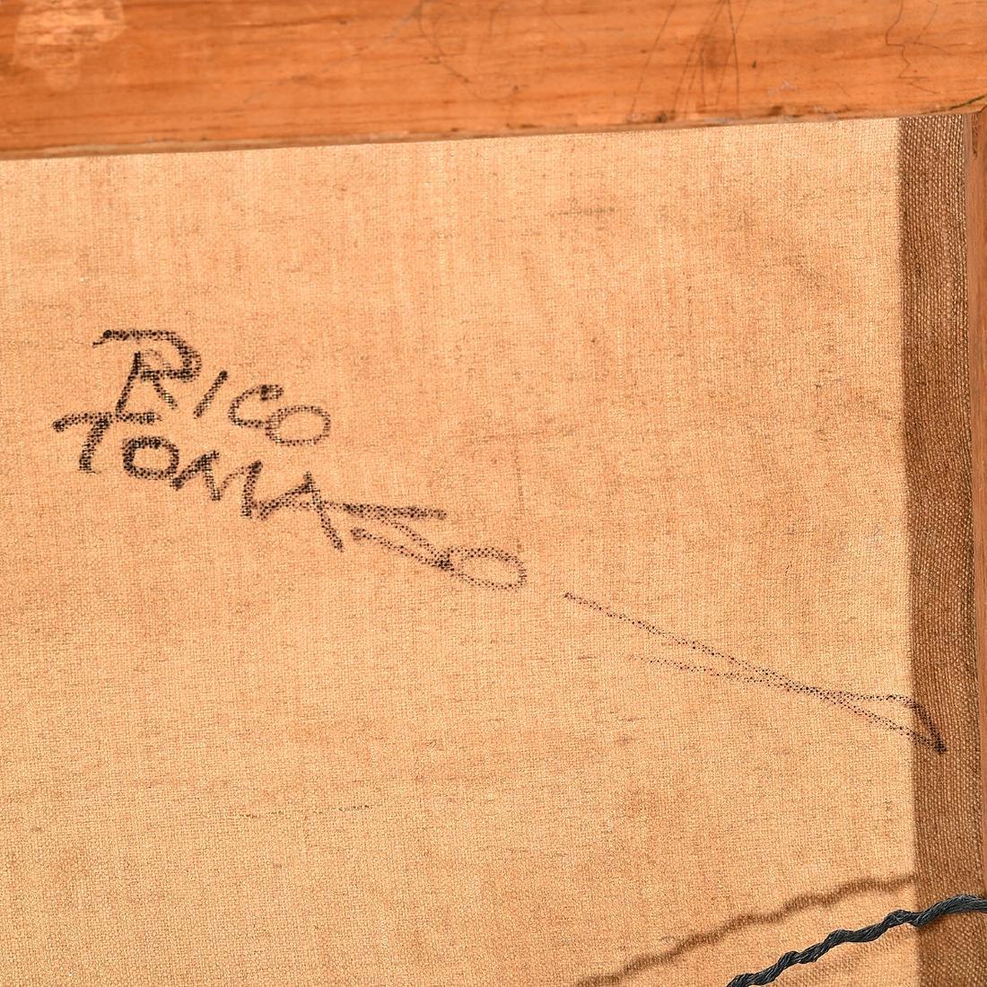 "Rico Tomaso ""Haunted"" oil on canvas - 6"