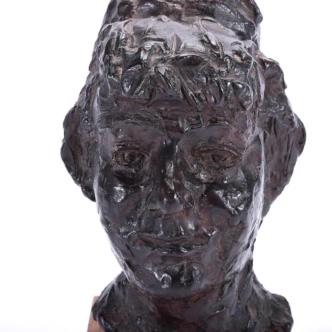 """Chaim Gross """"Bust of Woman"""" bronze - 2"""