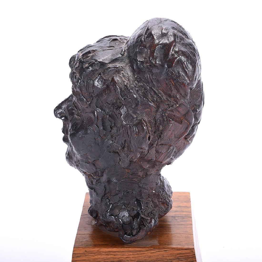 """Chaim Gross """"Bust of Woman"""" bronze - 3"""