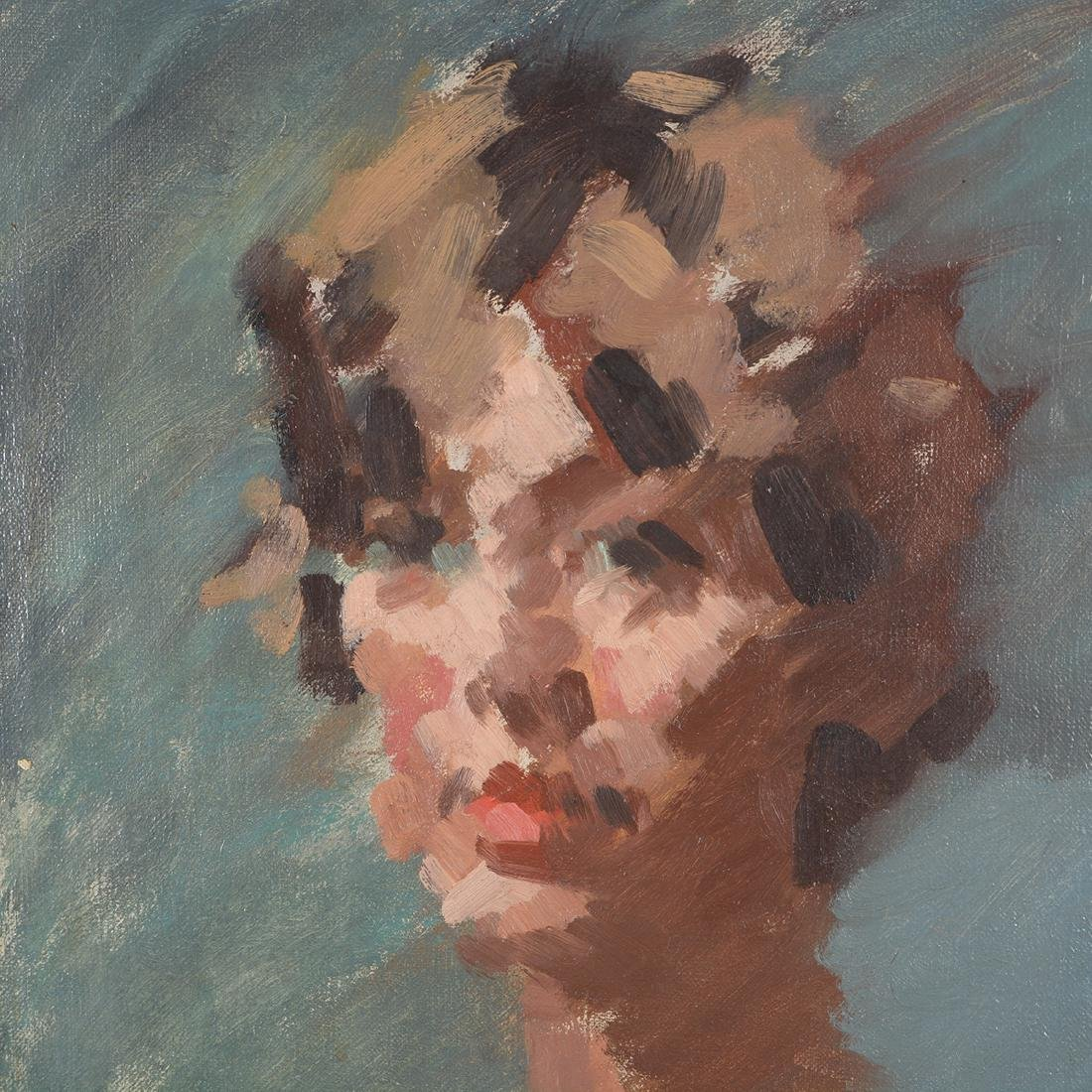 """Hayward Veal """"Portrait of a Woman"""" oil on canvas - 3"""