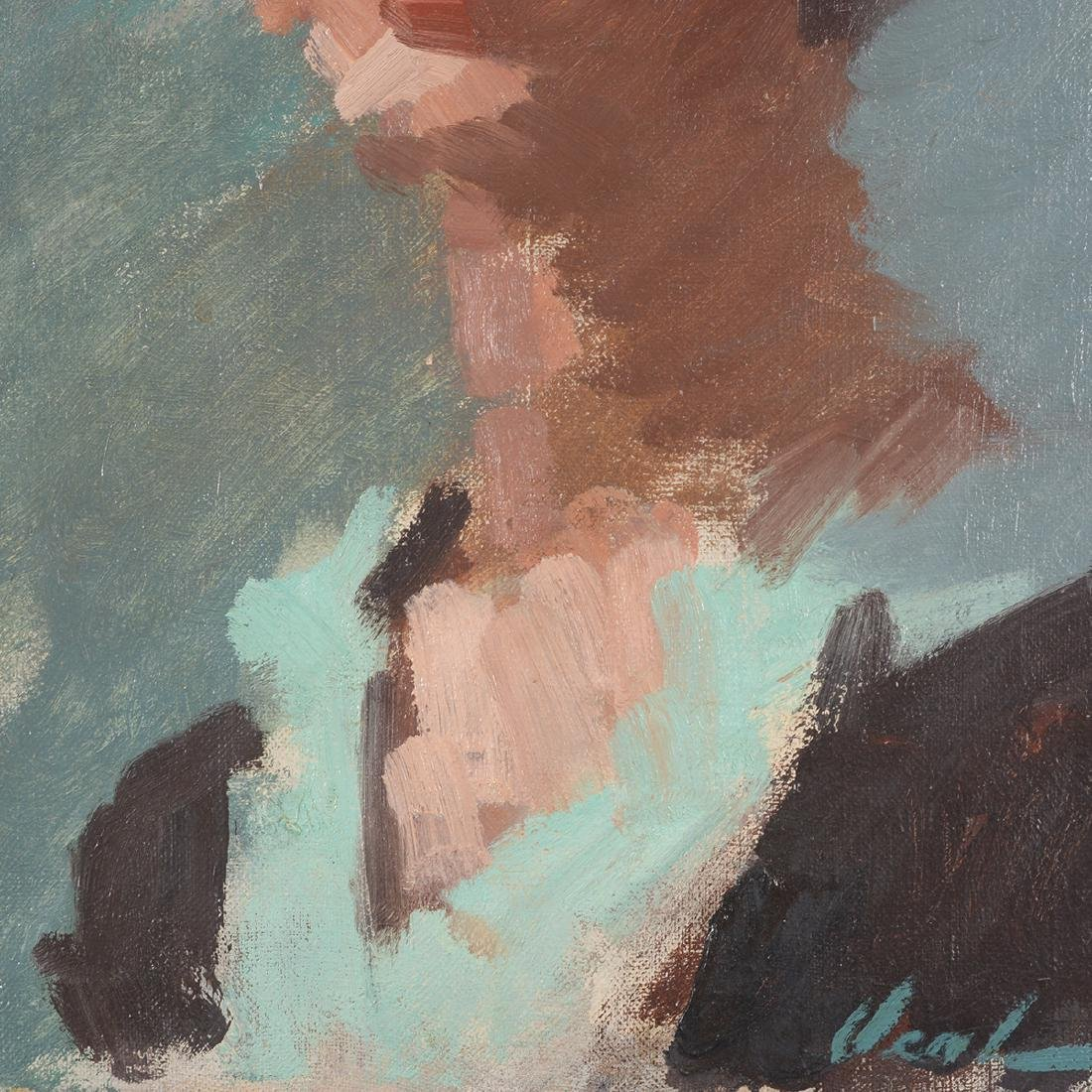 """Hayward Veal """"Portrait of a Woman"""" oil on canvas - 4"""