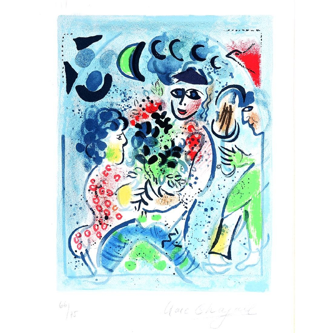 """Marc Chagall """"Frontispiece for Chagall lithographe"""