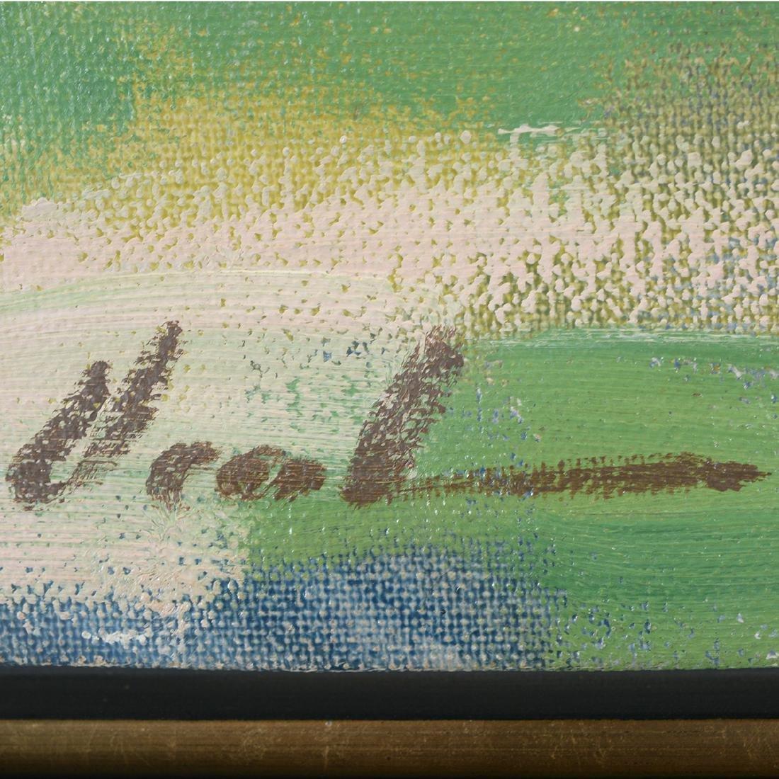 """Hayward Veal """"Church"""" oil on canvas - 2"""