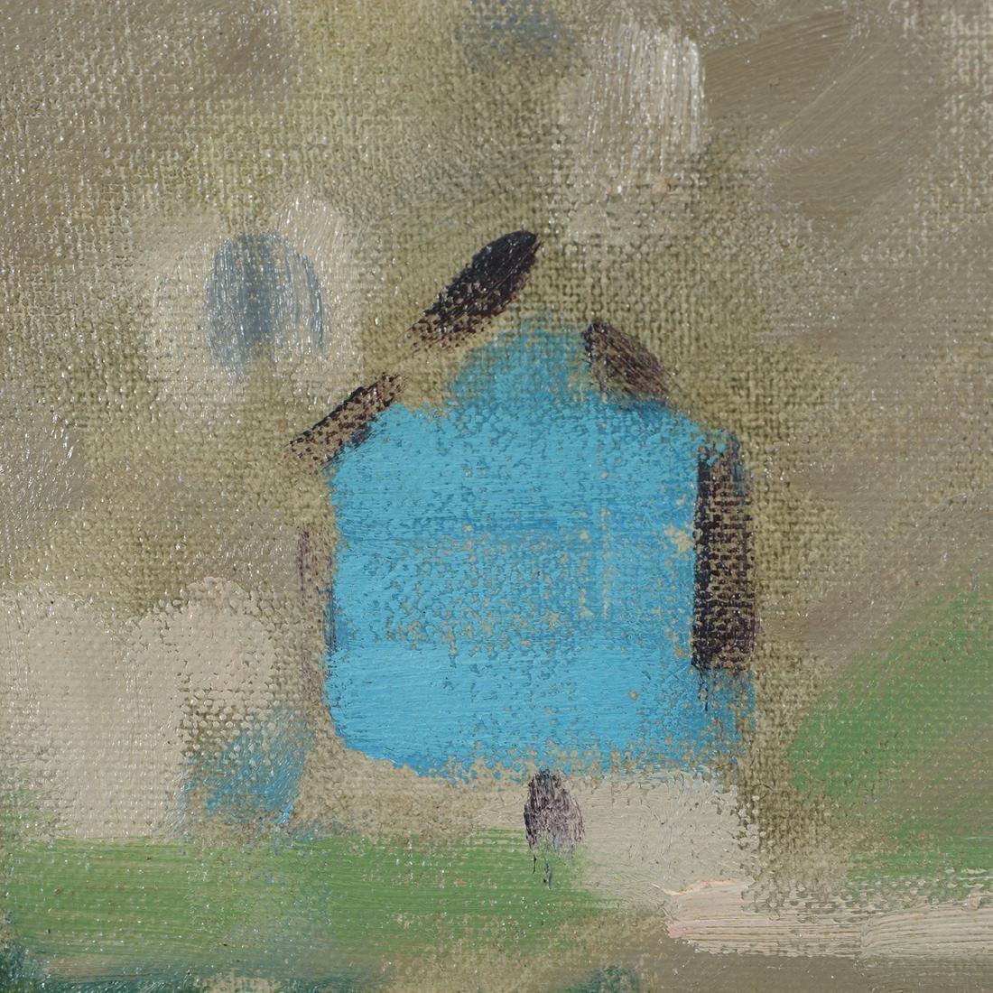 """Hayward Veal """"Church"""" oil on canvas - 3"""