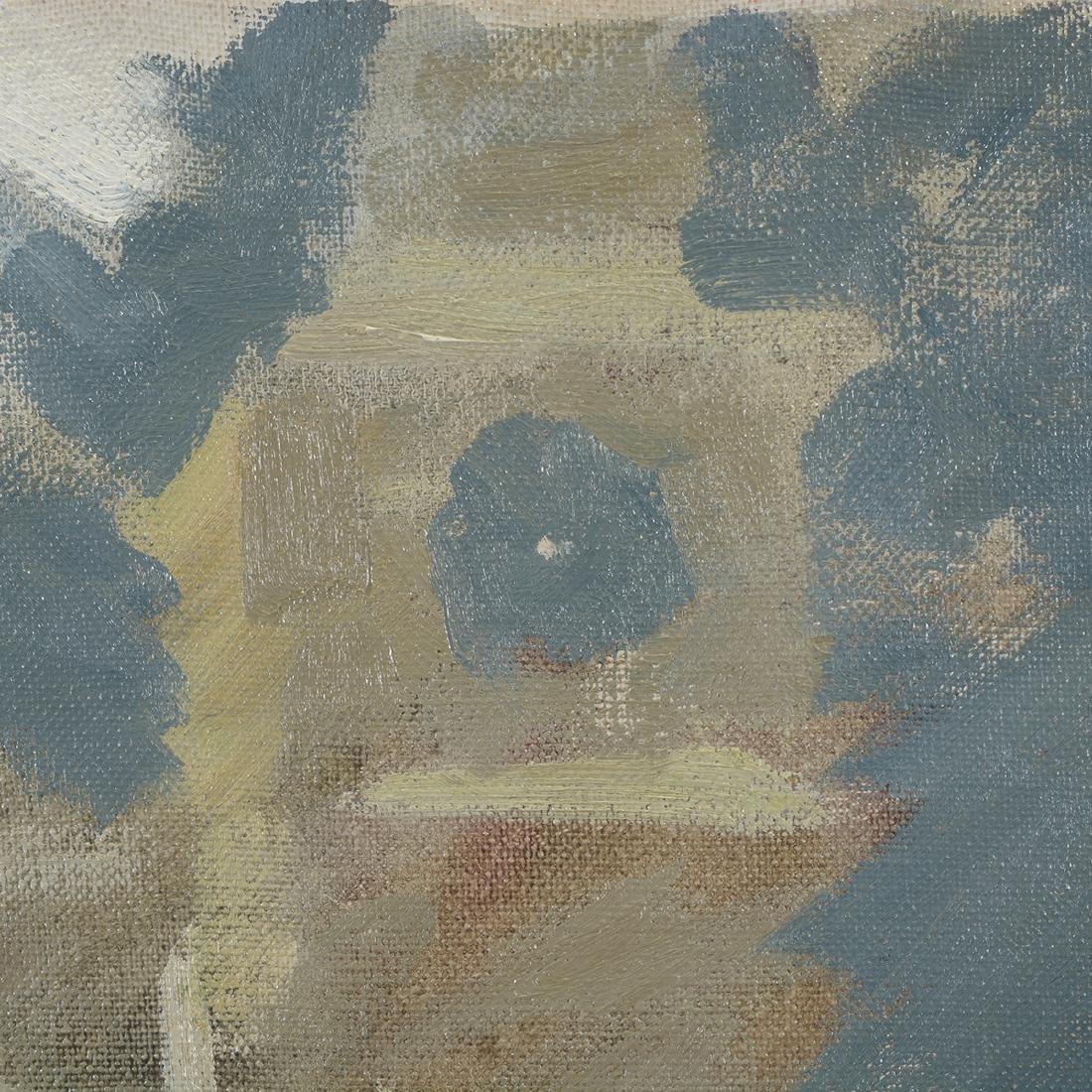 """Hayward Veal """"Church"""" oil on canvas - 4"""