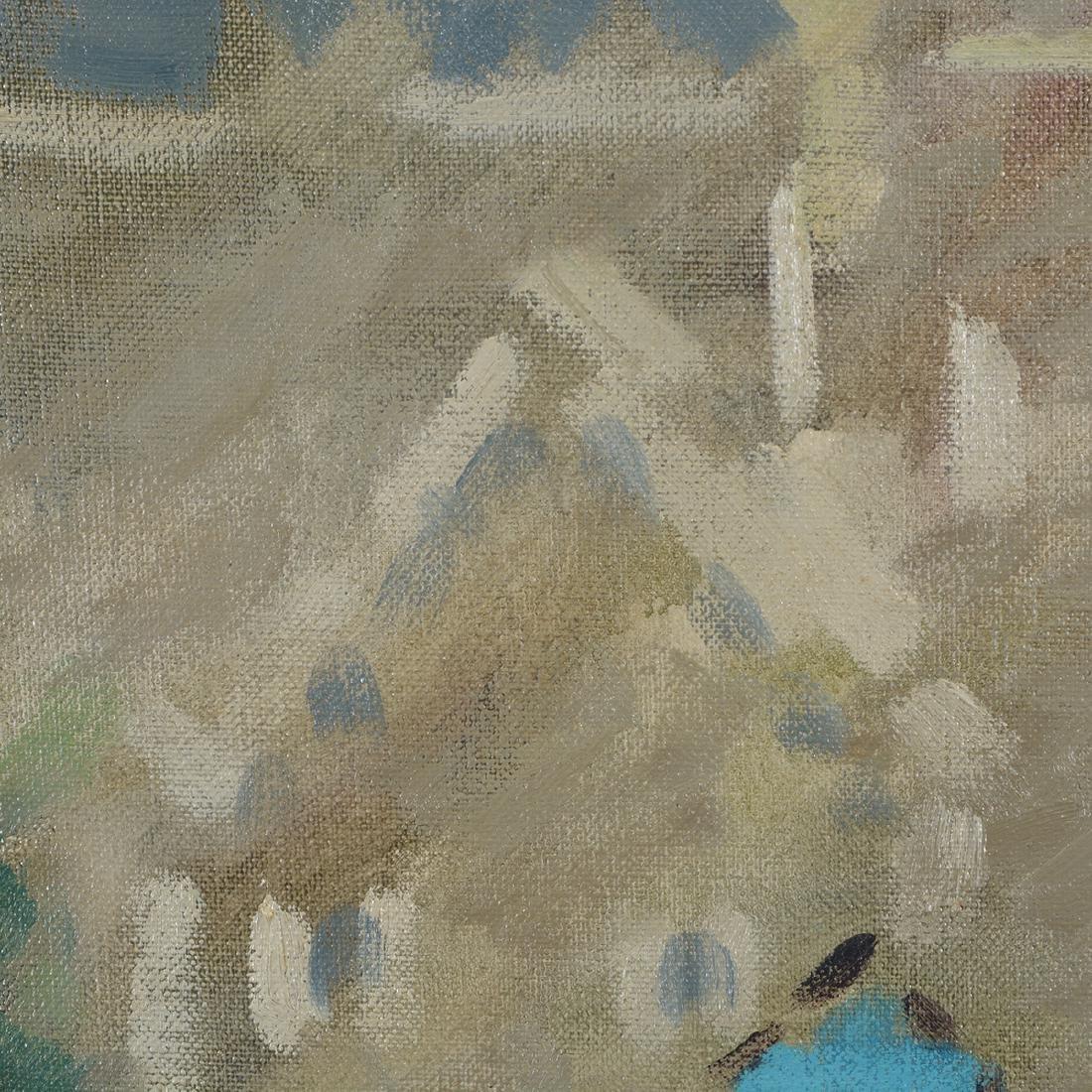 """Hayward Veal """"Church"""" oil on canvas - 5"""