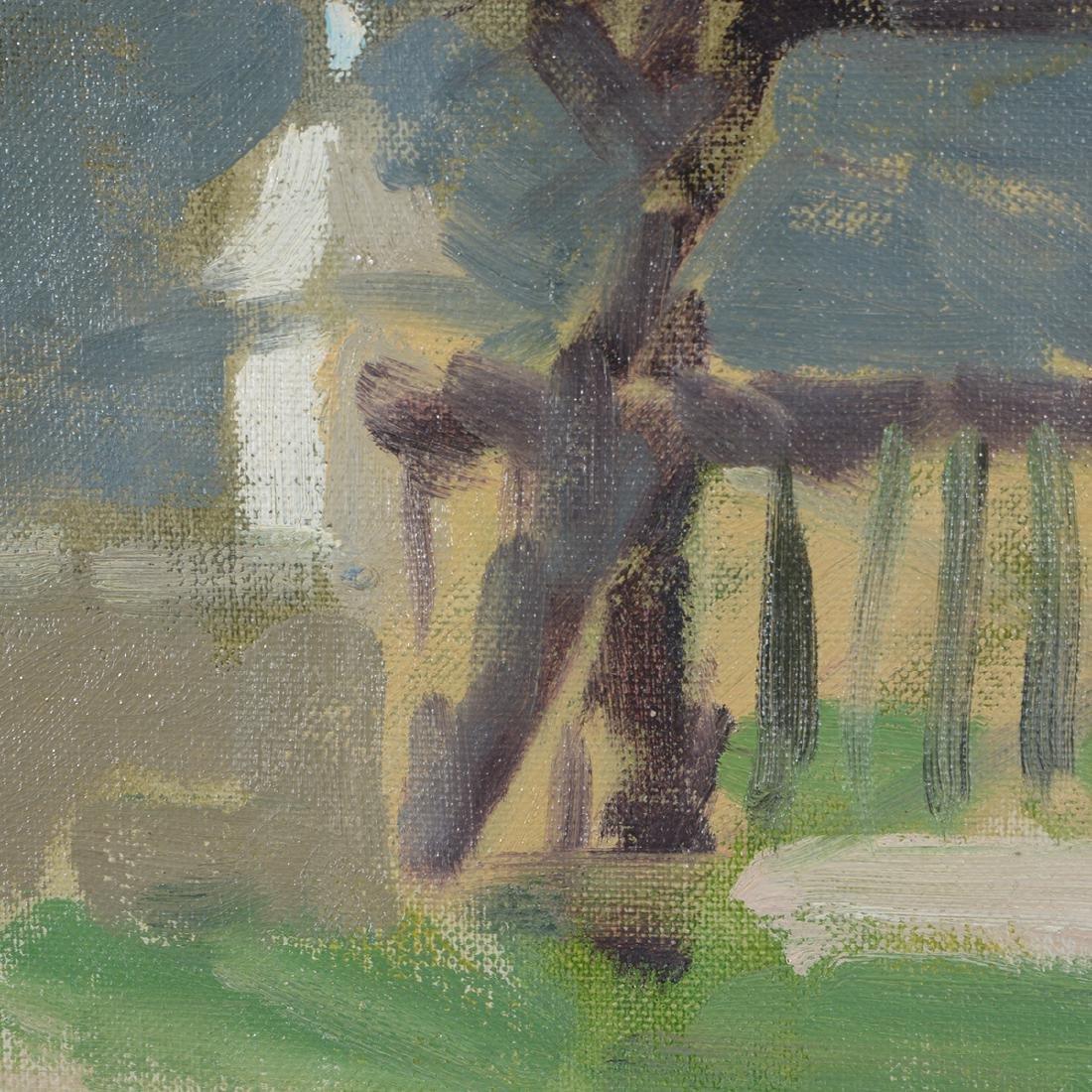 """Hayward Veal """"Church"""" oil on canvas - 6"""