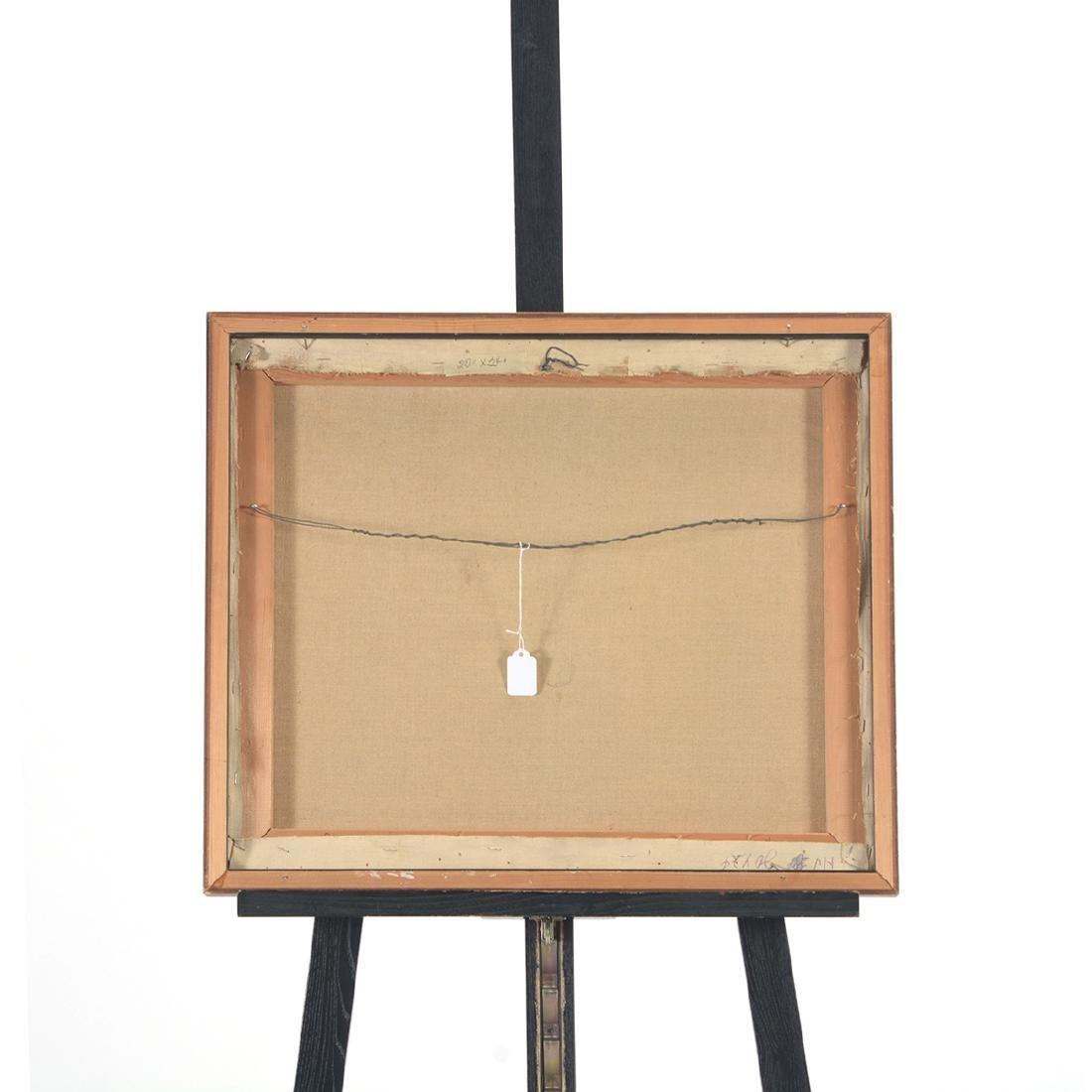 """Hayward Veal """"Church"""" oil on canvas - 8"""