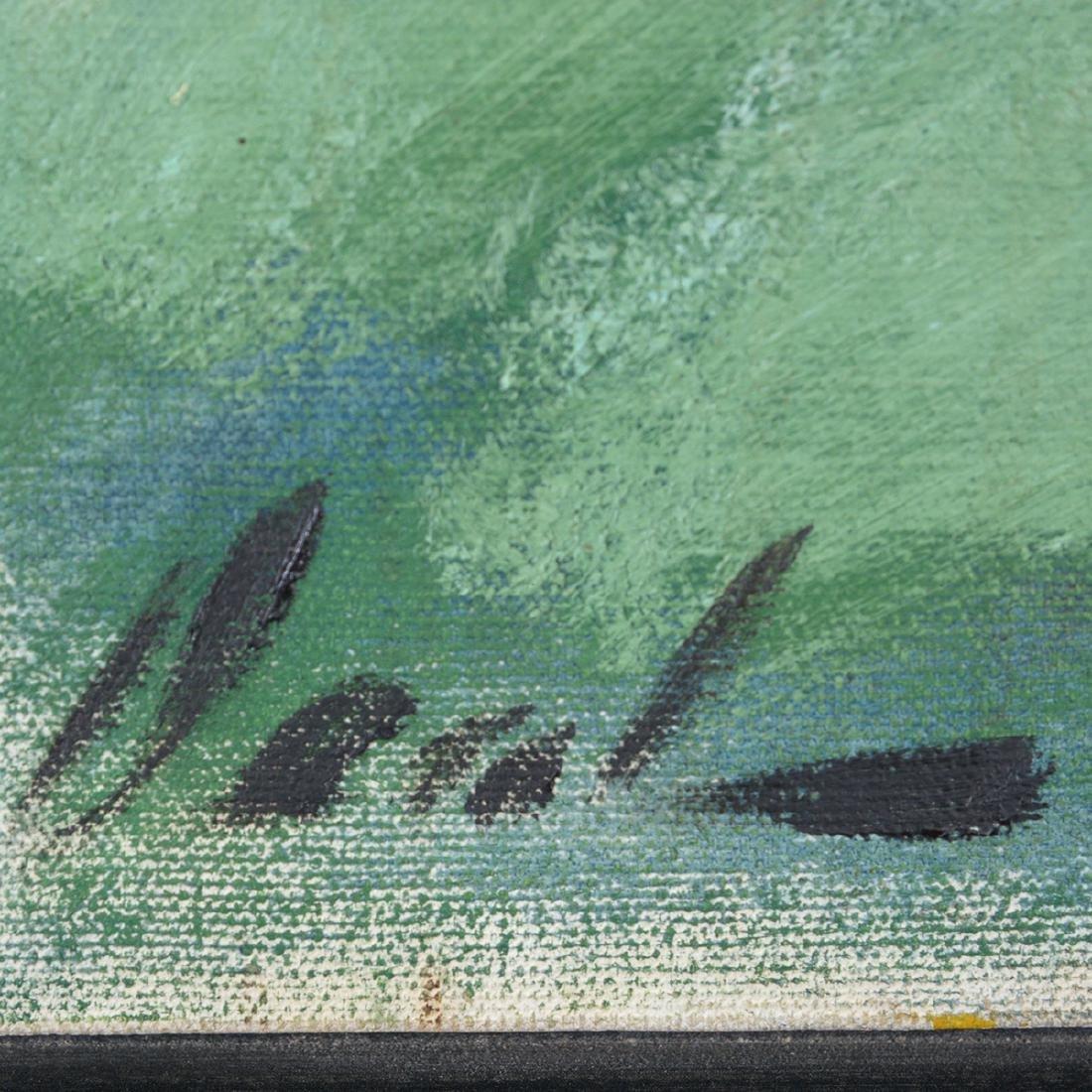 """Hayward Veal """"D'Pharr: the Artist"""" oil on canvas - 2"""