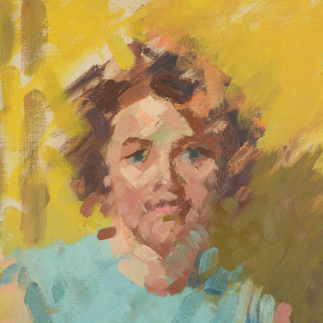 """Hayward Veal """"D'Pharr: the Artist"""" oil on canvas - 3"""