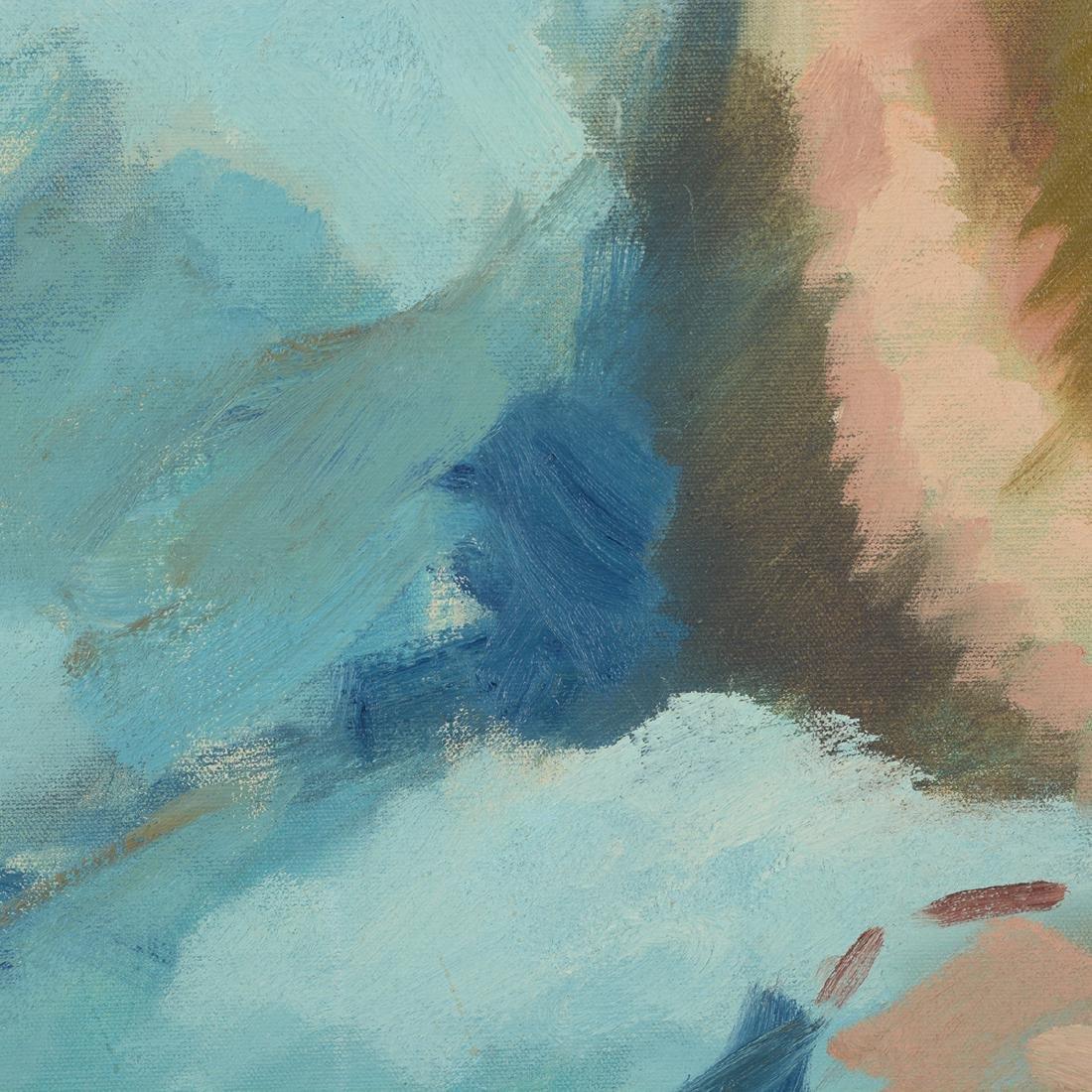 """Hayward Veal """"D'Pharr: the Artist"""" oil on canvas - 4"""