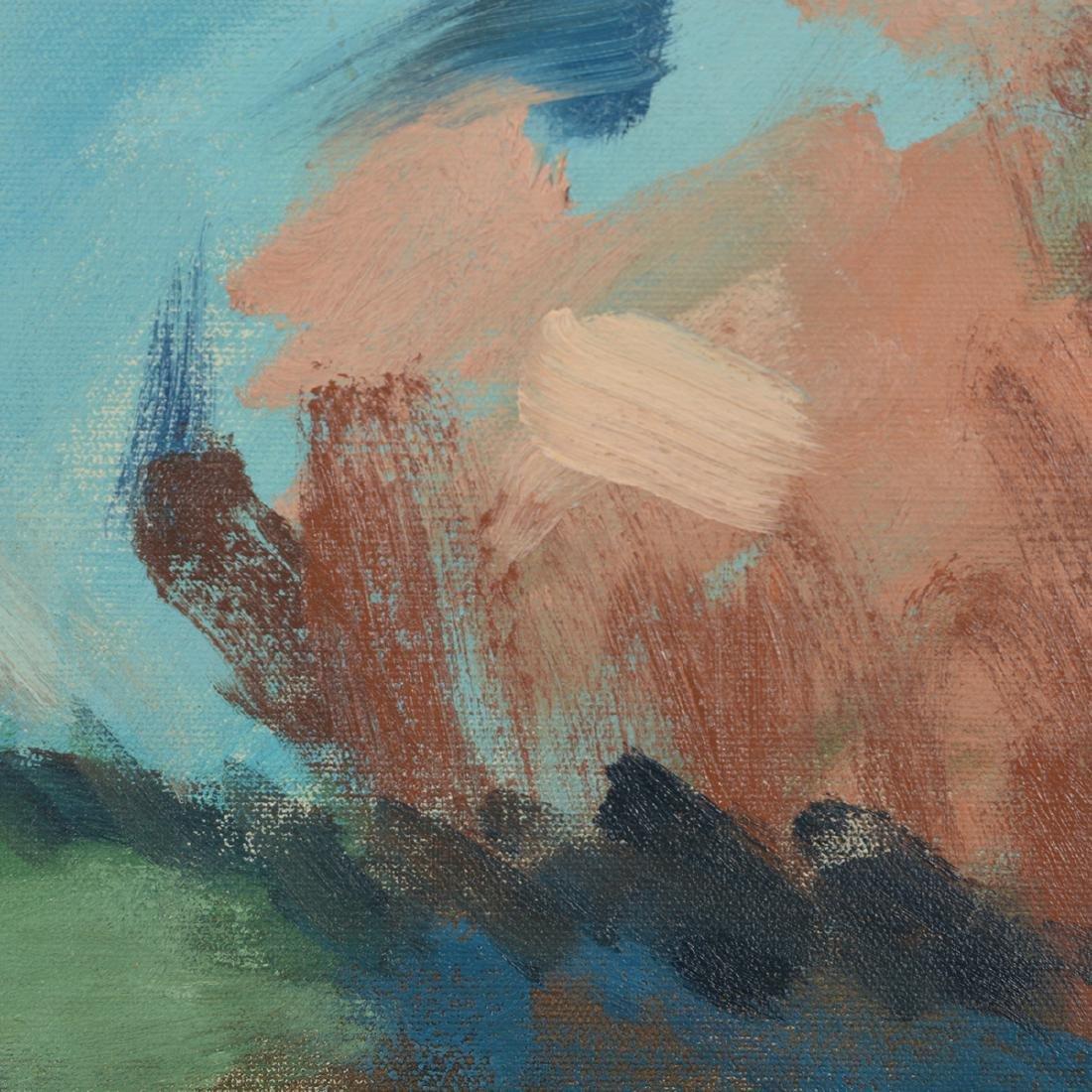 """Hayward Veal """"D'Pharr: the Artist"""" oil on canvas - 5"""
