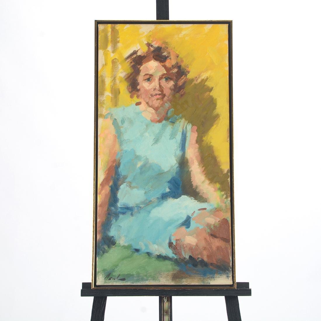 """Hayward Veal """"D'Pharr: the Artist"""" oil on canvas - 6"""