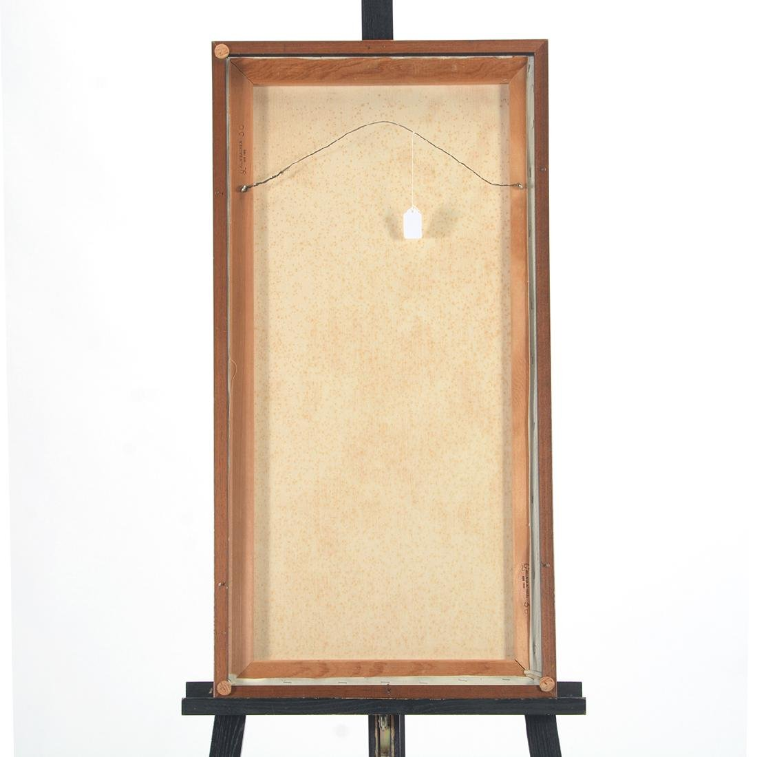 """Hayward Veal """"D'Pharr: the Artist"""" oil on canvas - 7"""