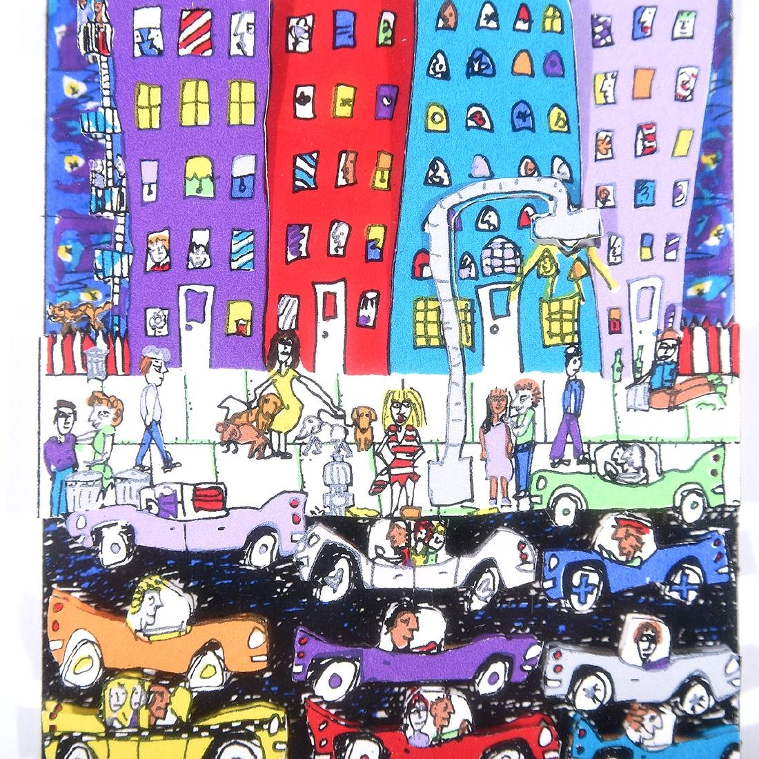 "James Rizzi ""Crosswalks"" and ""Night Out"" mixed media - 7"