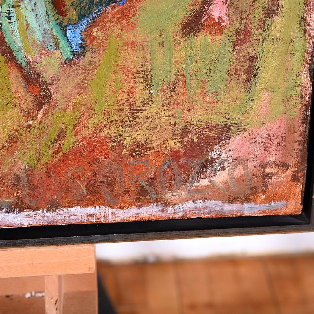 "Luis Orozco ""Village"" oil on canvas - 2"