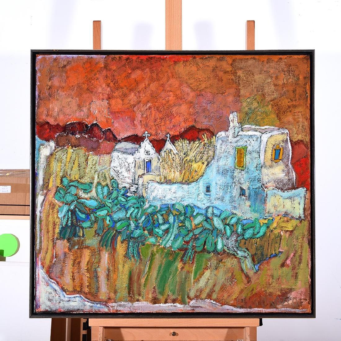 "Luis Orozco ""Village"" oil on canvas - 4"