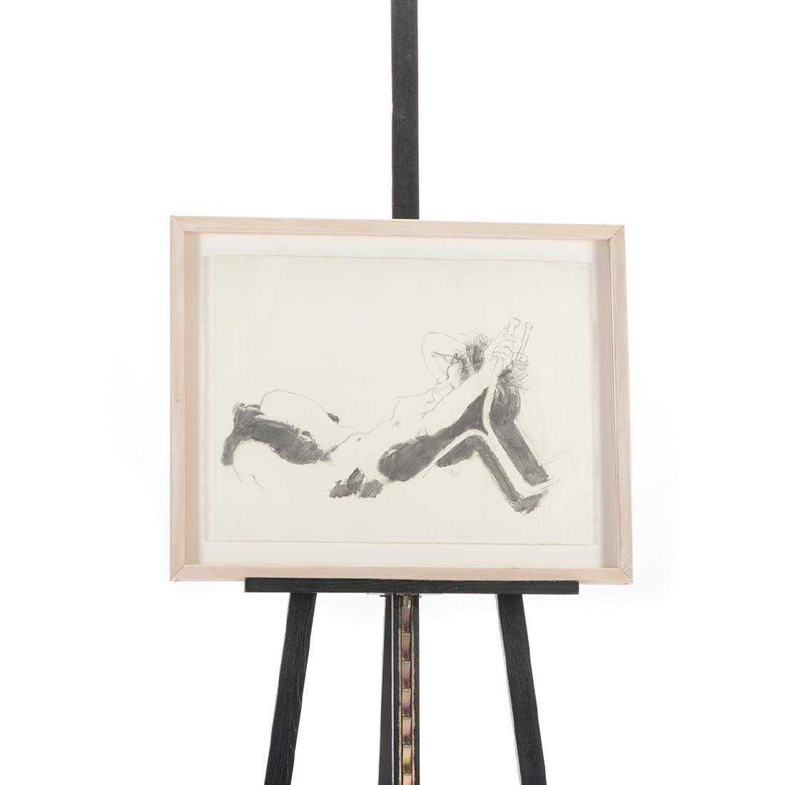 "Jerald Silva 2 ""Female figures"" graphite and wash - 10"