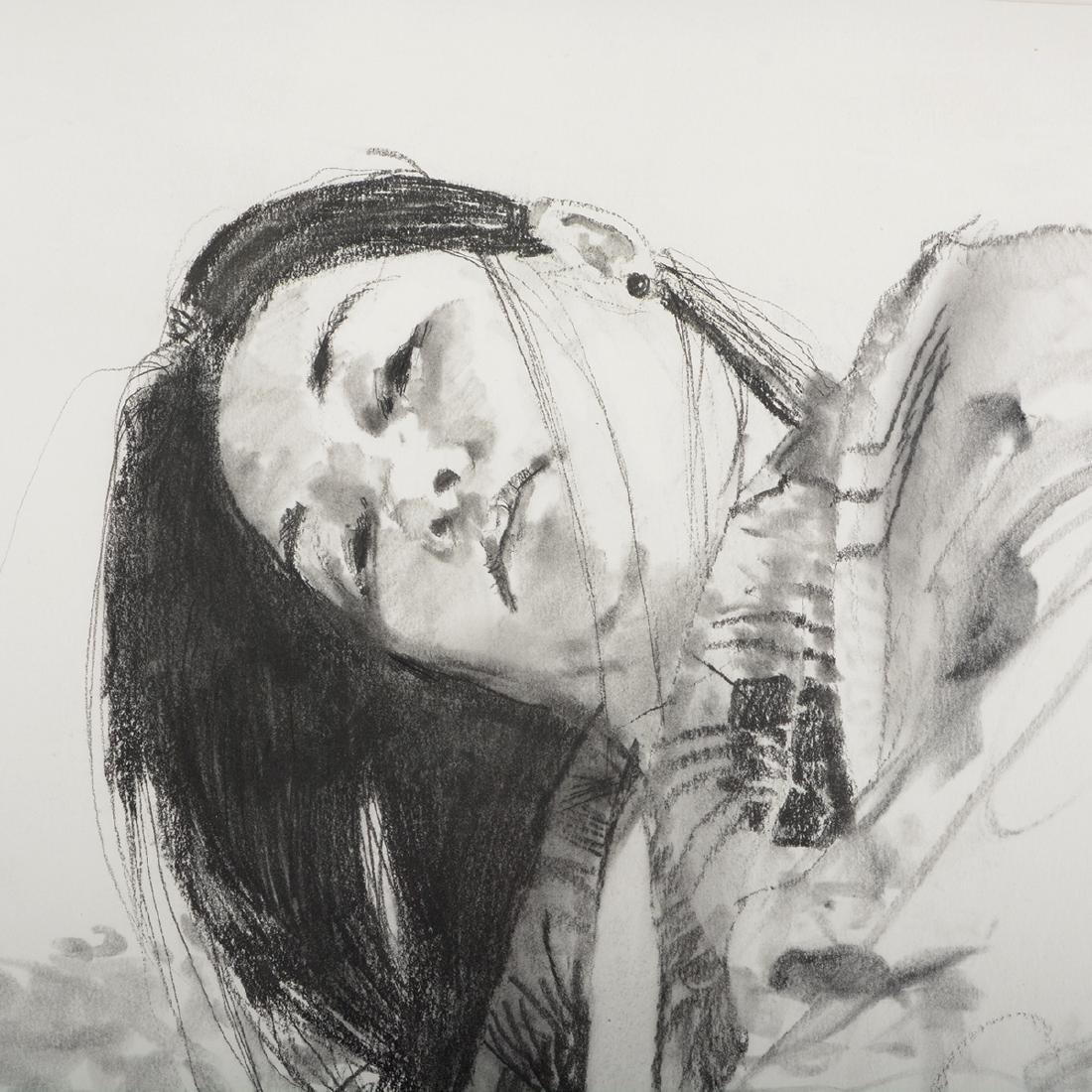 "Jerald Silva 2 ""Female figures"" graphite and wash - 3"