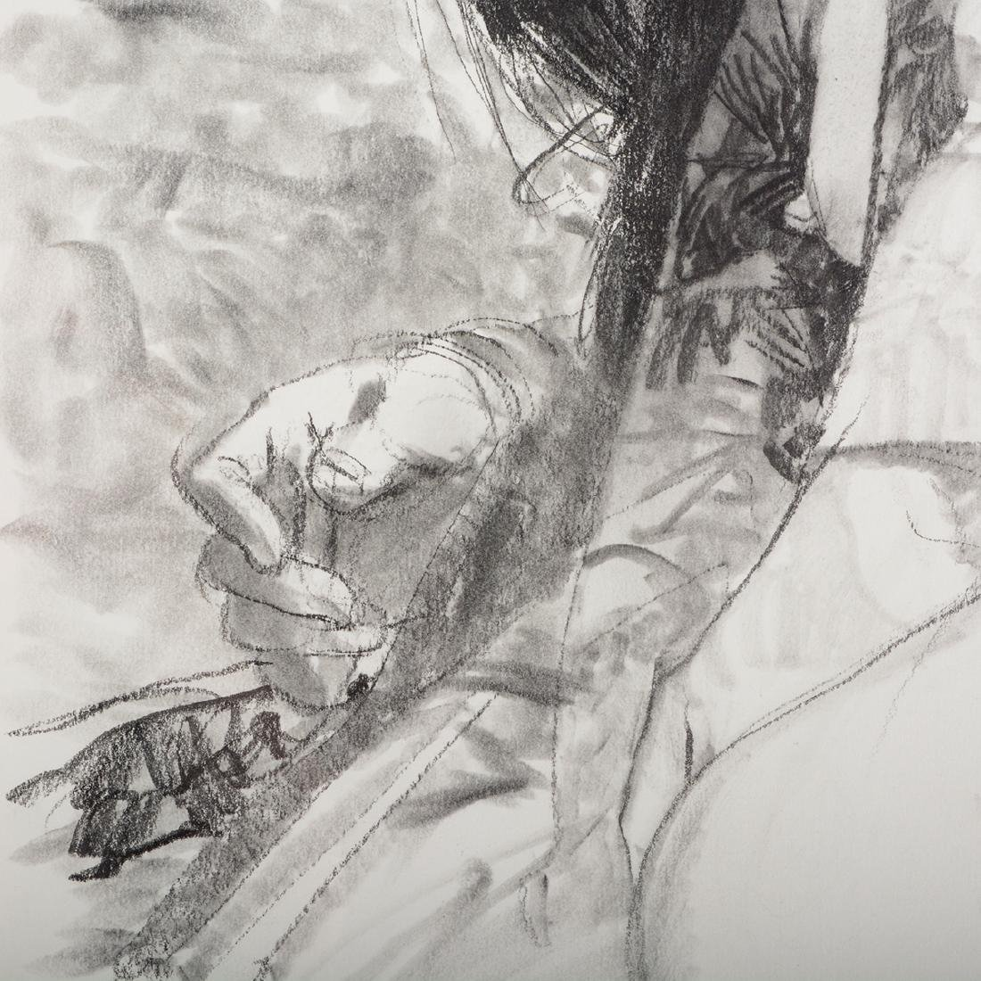 "Jerald Silva 2 ""Female figures"" graphite and wash - 4"