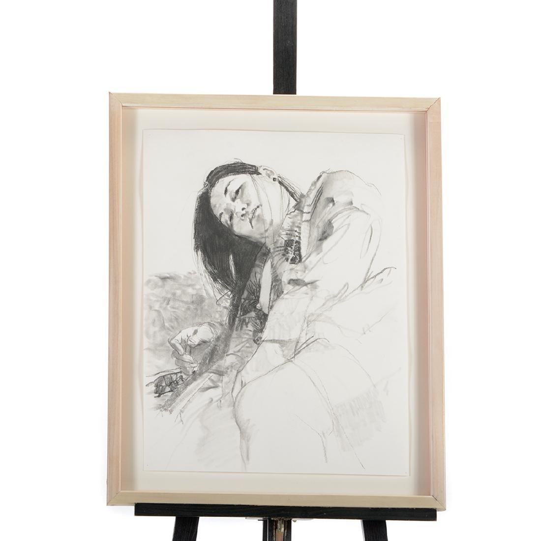 "Jerald Silva 2 ""Female figures"" graphite and wash - 5"