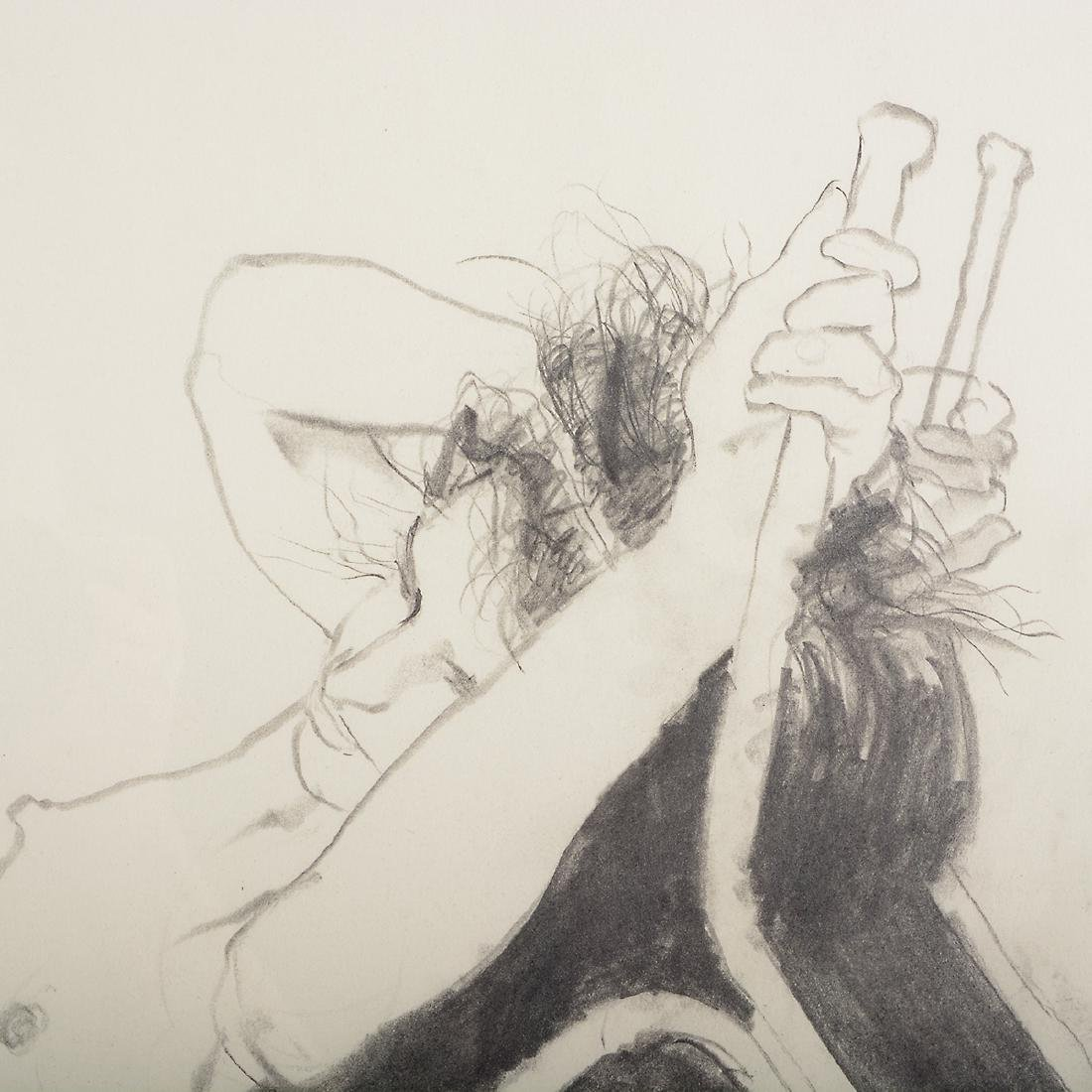 "Jerald Silva 2 ""Female figures"" graphite and wash - 7"