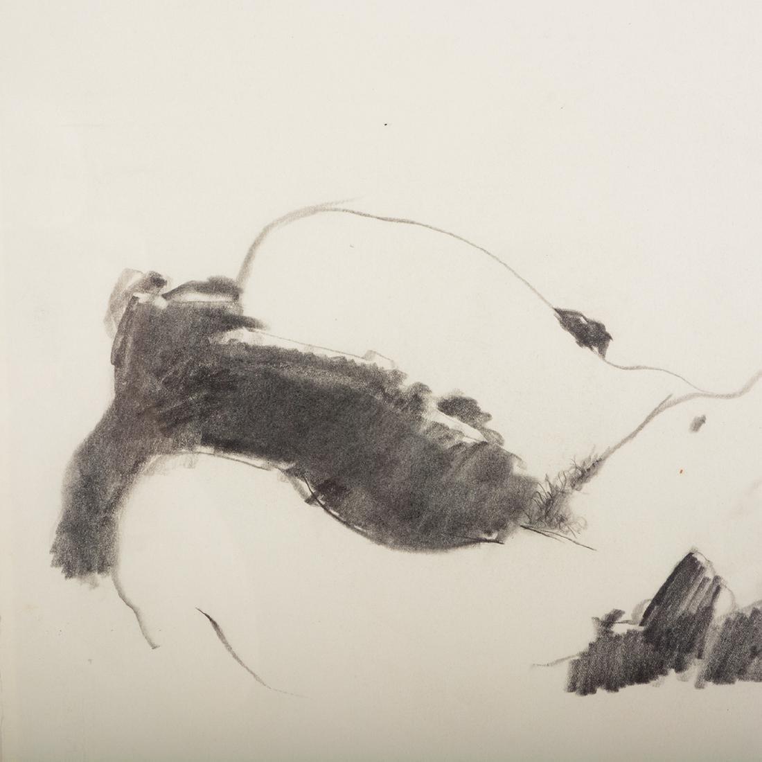 "Jerald Silva 2 ""Female figures"" graphite and wash - 9"