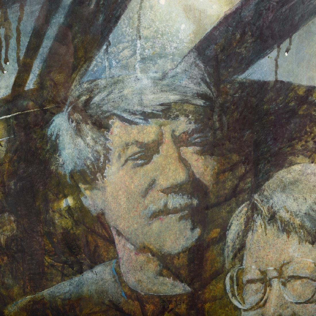 "Jerald Silva ""Figures in the window at night"" - 2"