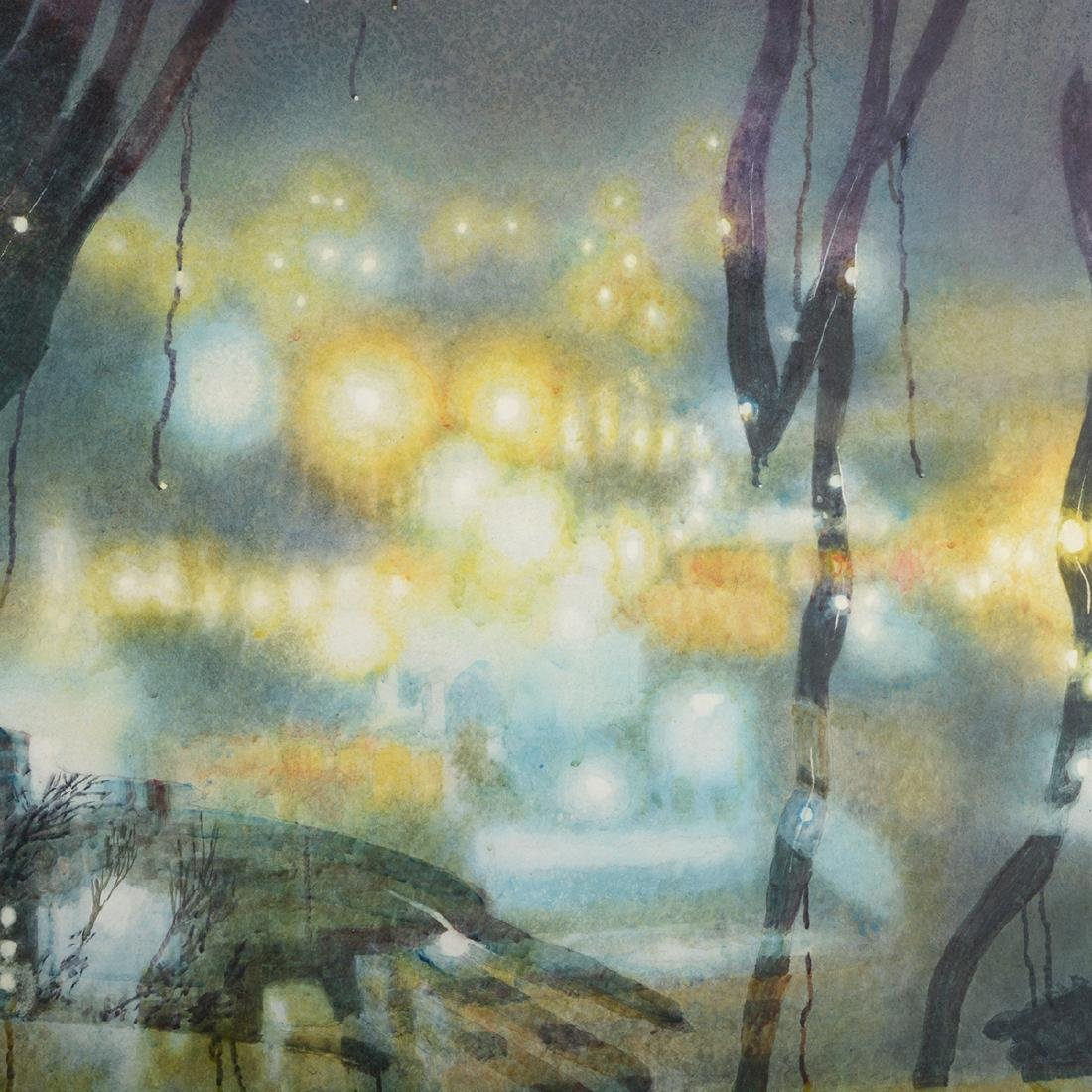 "Jerald Silva ""Figures in the window at night"" - 4"