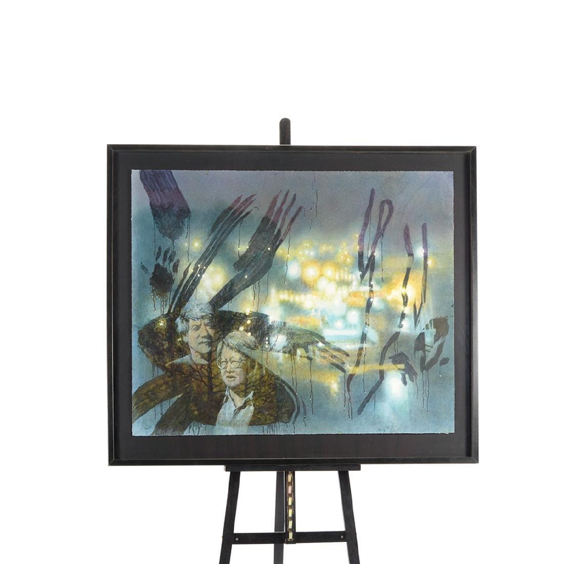 "Jerald Silva ""Figures in the window at night"" - 5"