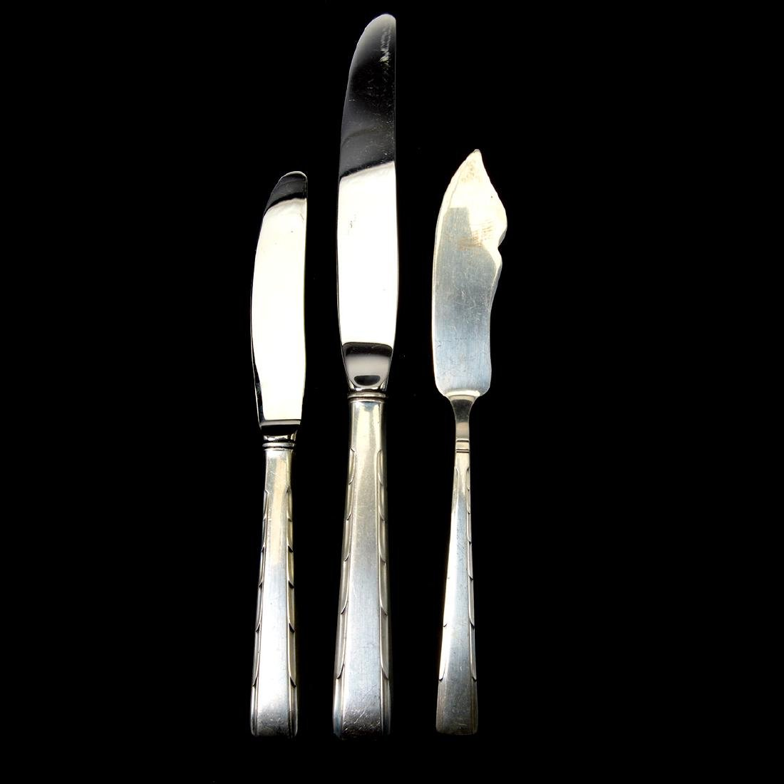 Partial Easterling Horizon Pattern Sterling Flatware - 5