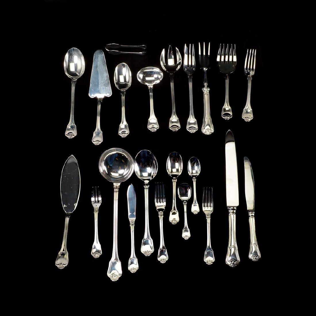 Christofle Silver-Plate Flatware, Case [144 pcs]