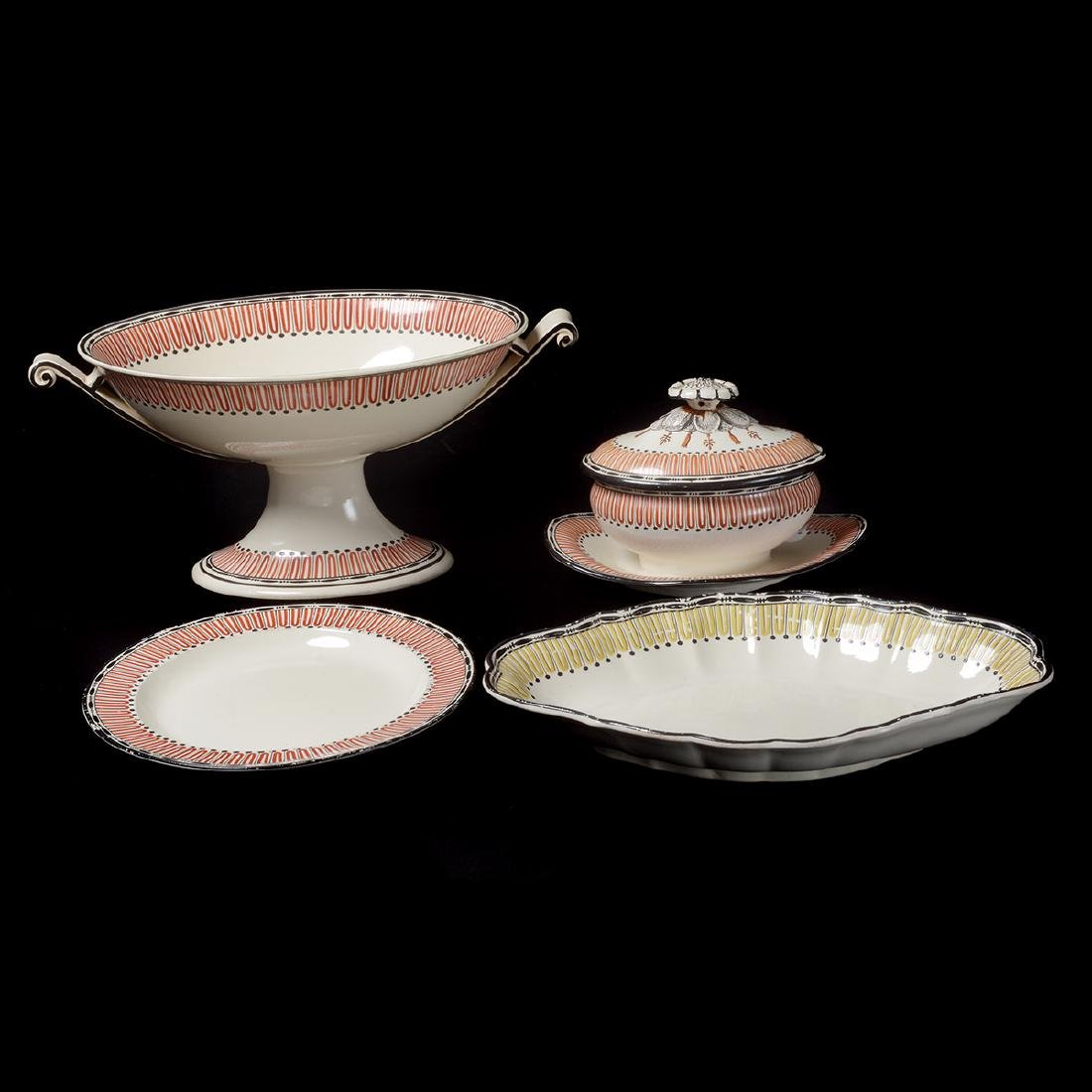Group of English Decorated Creamware