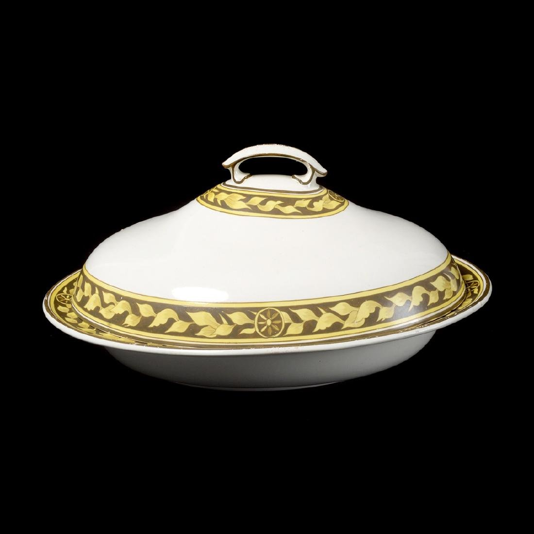 English Creamware Covered Oval Serving Dish and Spode - 2