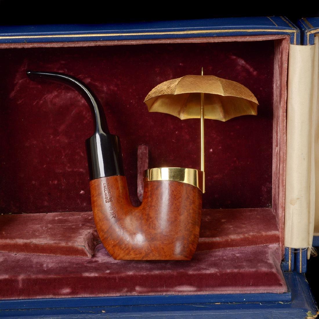 Dunhill Umbrella Pipe with Presentation Box - 4